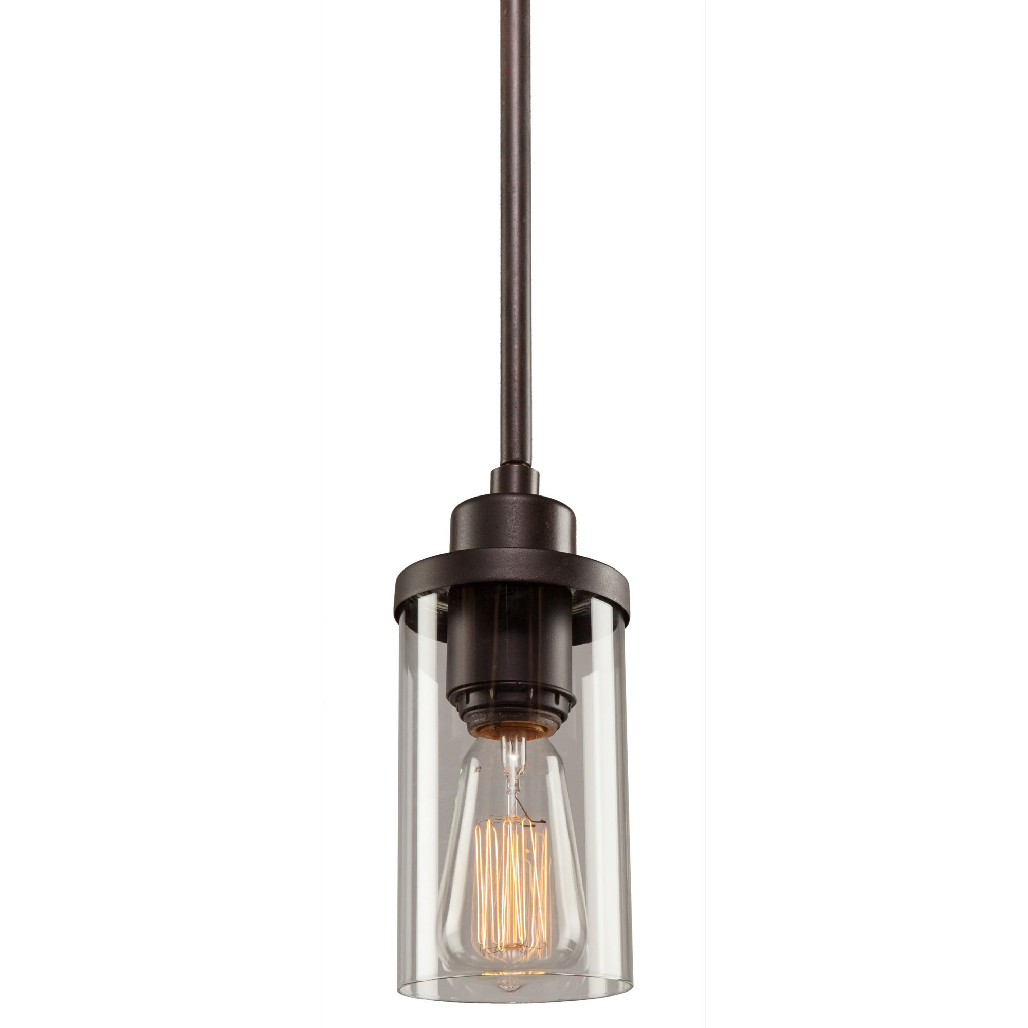 Florine 1 Light Single Cylinder Pendant Pertaining To Most Recently Released Sue 1 Light Single Jar Pendants (View 5 of 20)