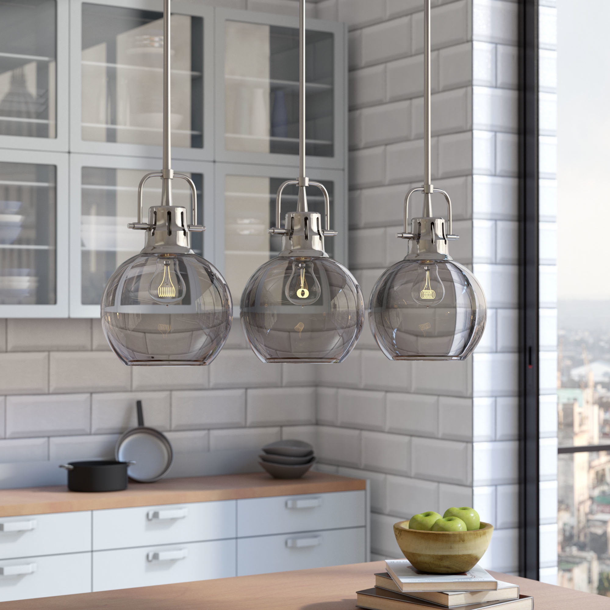 Fredela 3 Light Kitchen Island Pendants Inside Famous 3 Light Kitchen Island Pendant Lighting You'll Love In  (View 8 of 20)