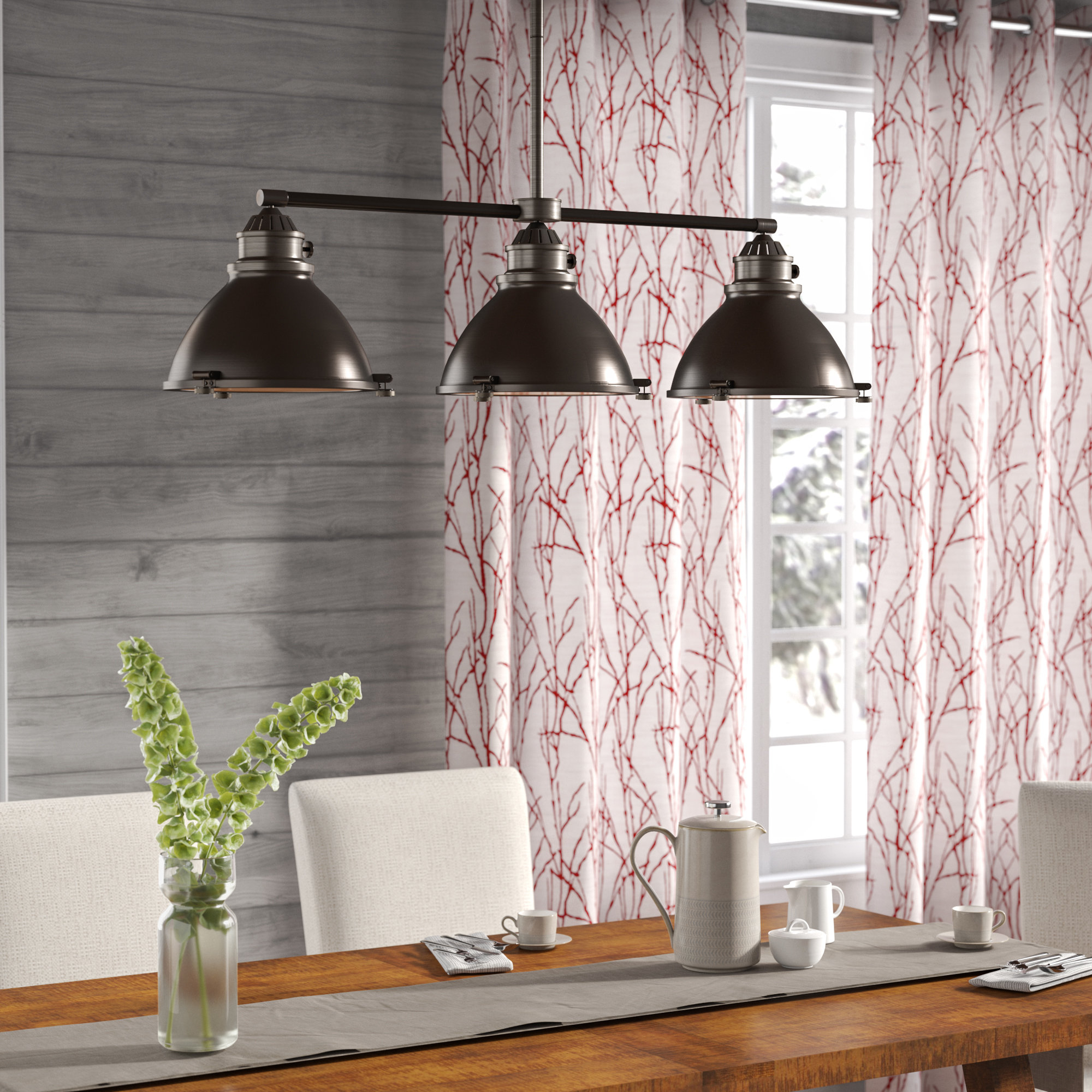 Fredela 3 Light Kitchen Island Pendants Pertaining To Latest Dewey 3 Light Kitchen Island Linear Pendant (View 9 of 20)