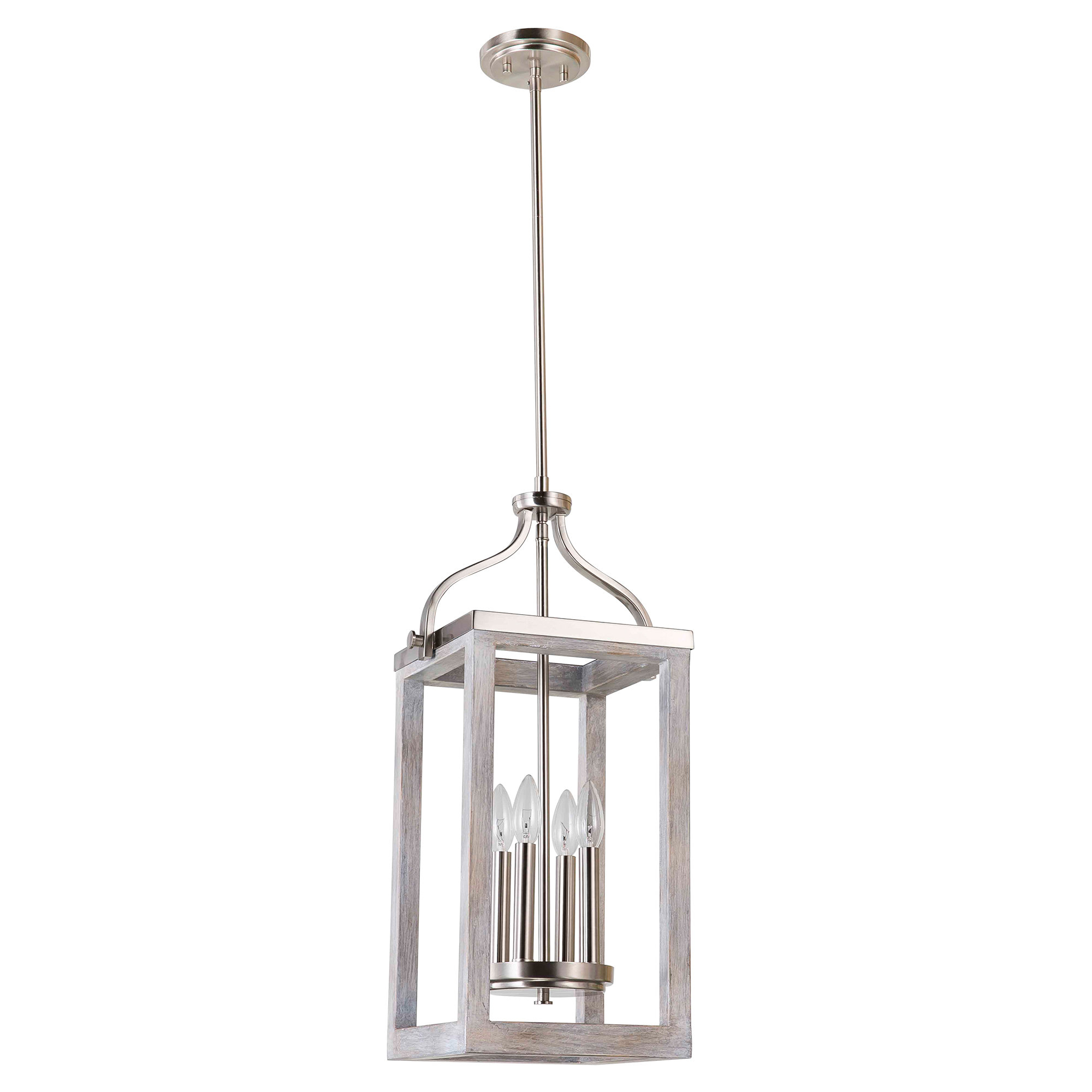 Freeburg 4 Light Lantern Square / Rectangle Pendants Throughout Well Known Ashley 4 Light Mini Chandelier (View 6 of 20)