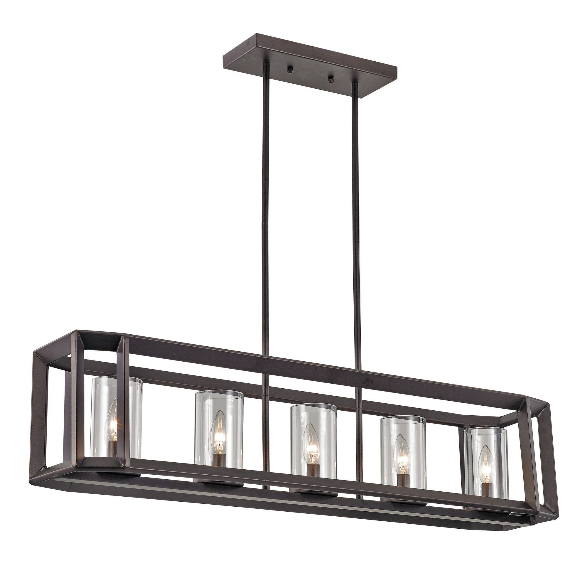 Freemont 5 Light Kitchen Island Linear Chandeliers Pertaining To Well Known Burbage 5 Light Kitchen Island Pendant (View 5 of 20)