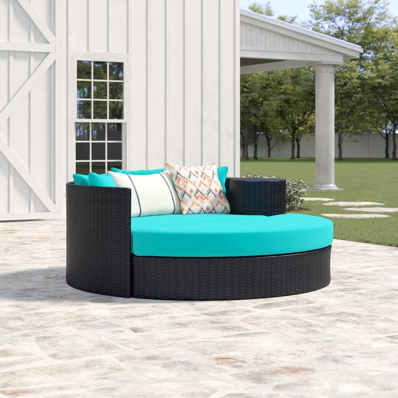 Freeport Patio Daybed With Cushion Regarding Most Recently Released Keiran Patio Daybeds With Cushions (View 4 of 20)