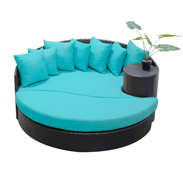 Freeport Patio Daybed With Cushion With Regard To Well Liked Leiston Round Patio Daybeds With Cushions (View 4 of 20)