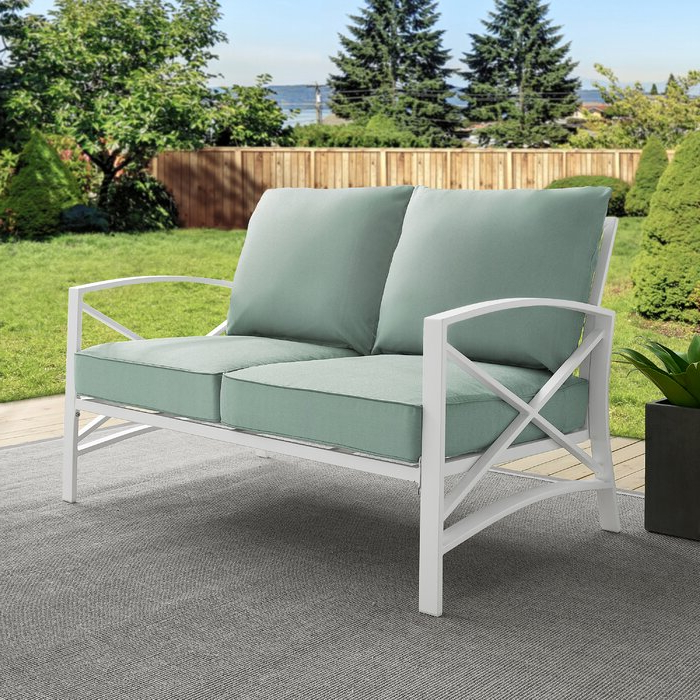 Freitag Loveseat With Cushions With Regard To Current Mosca Patio Loveseats With Cushions (View 6 of 20)