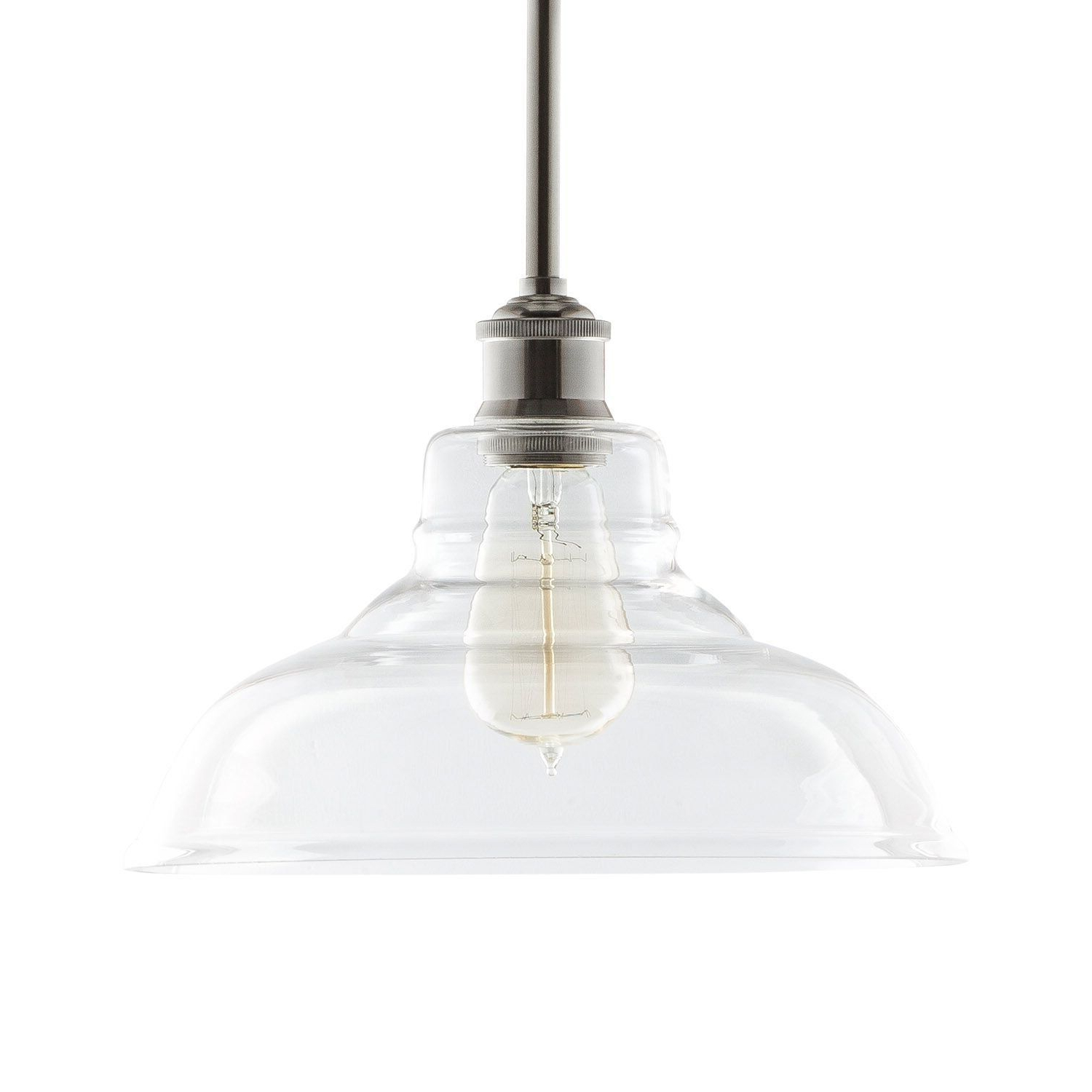 French Farmhouse Inside Fresno Dome 1 Light Bell Pendants (View 7 of 20)
