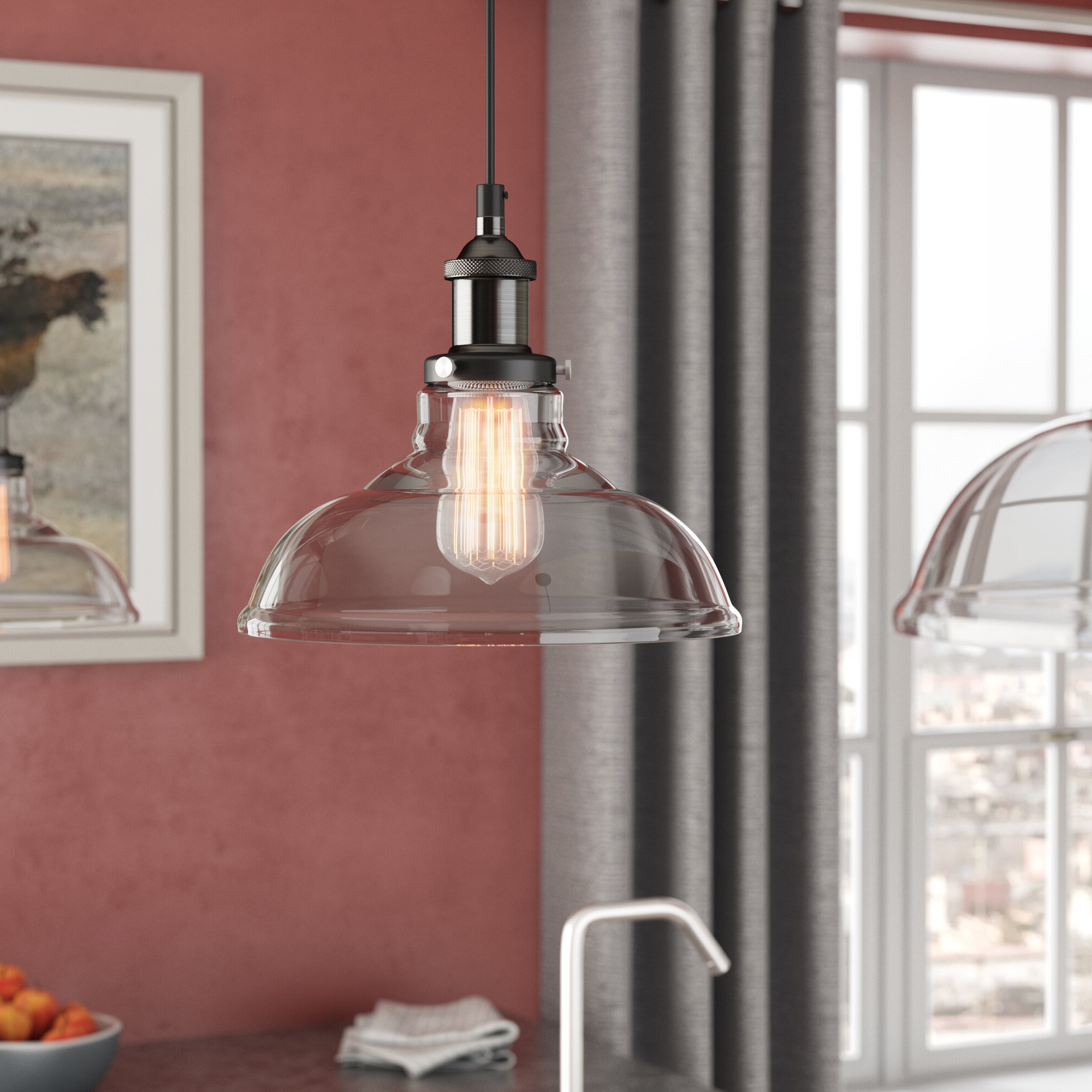 Fresno Dome 1 Light Bell Pendants With Regard To Trendy Newlyn 1 Light Dome Pendant (View 13 of 20)