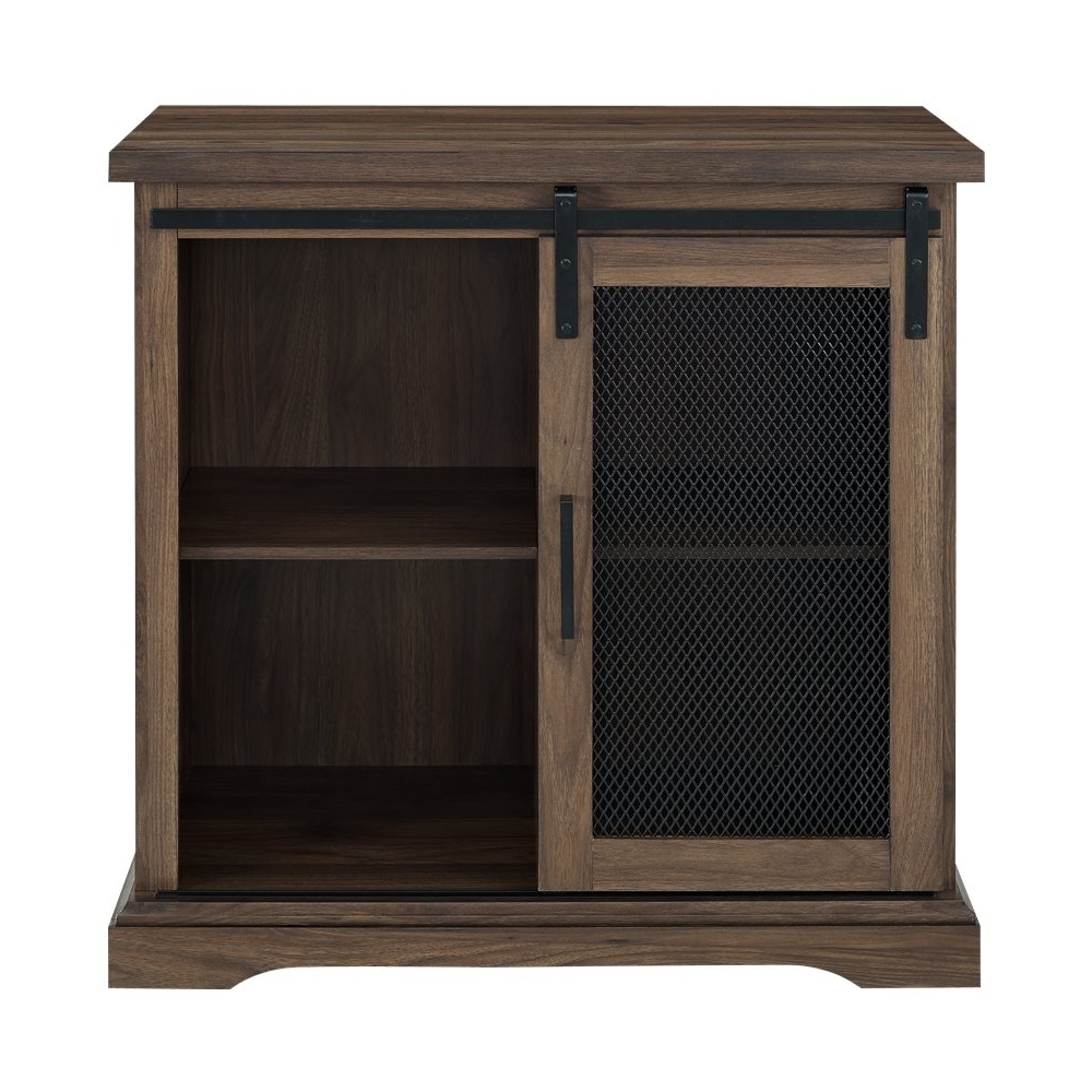 Fugate 2 Door Credenzas Throughout Most Up To Date Walker Edison – Sliding Metal Mesh Door Modern Buffet (View 8 of 20)
