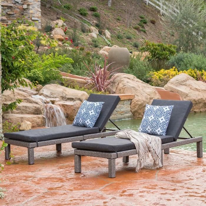 Furst Patio Sofas With Cushion Regarding 2019 Furst Chaise Lounge With Cushion (View 5 of 20)