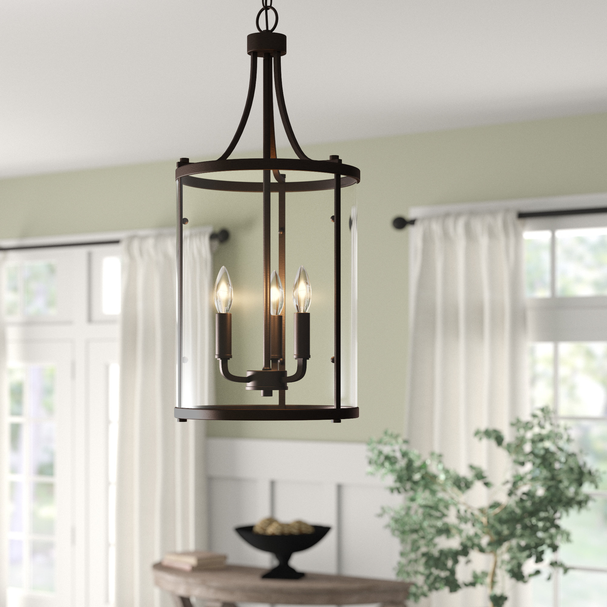 Gabriella 3 Light Lantern Chandeliers Regarding Best And Newest 3 Light Lantern Cylinder Pendant (View 10 of 20)