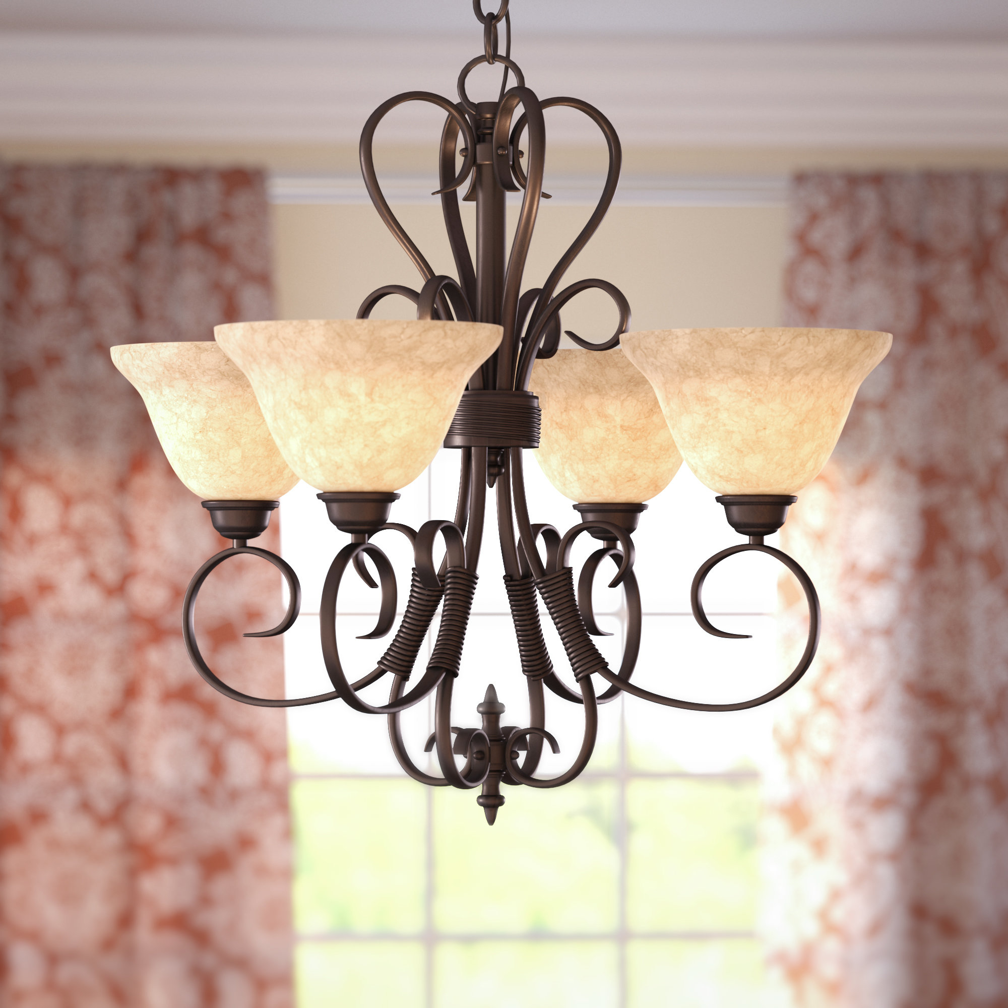 Gaines 5 Light Shaded Chandeliers For Best And Newest Gaines 4 Light Shaded Chandelier (View 7 of 20)