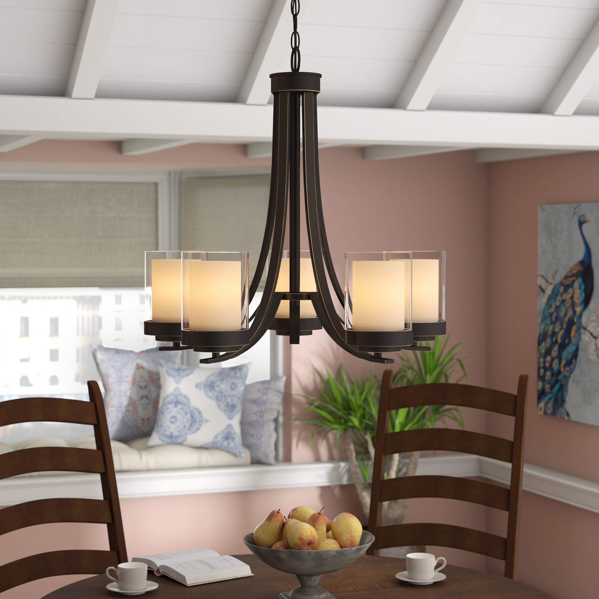 Gaines 5 Light Shaded Chandeliers Throughout Well Known Suki 5 Light Shaded Chandelier (Gallery 15 of 20)