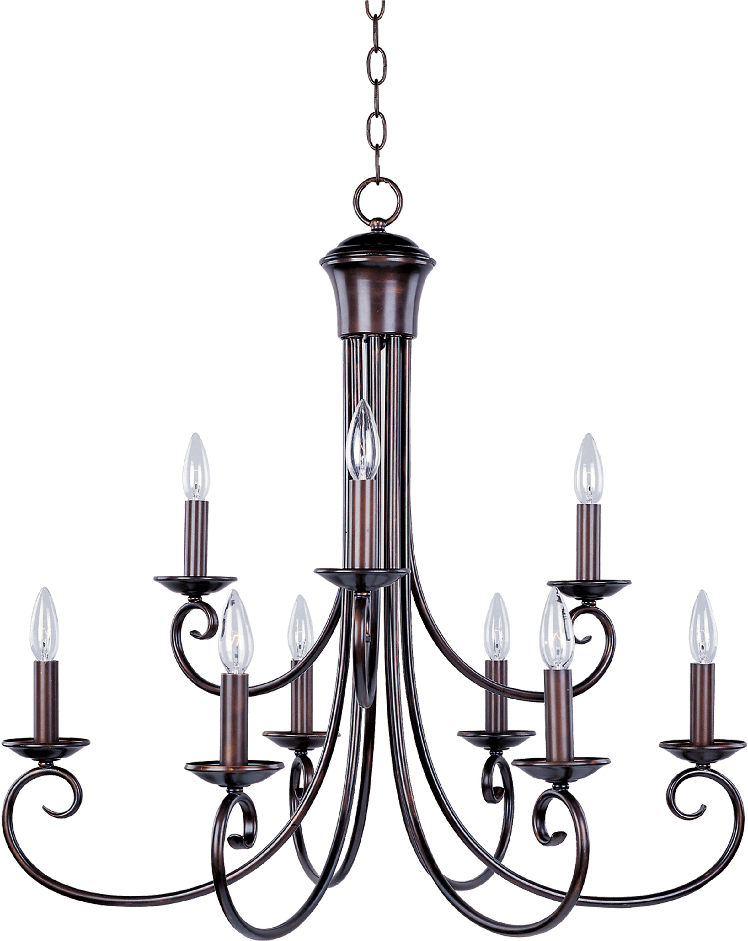 Gaines 9 Light Candle Style Chandeliers Inside Widely Used Kenedy 9 Light Candle Style Chandelier (View 10 of 20)