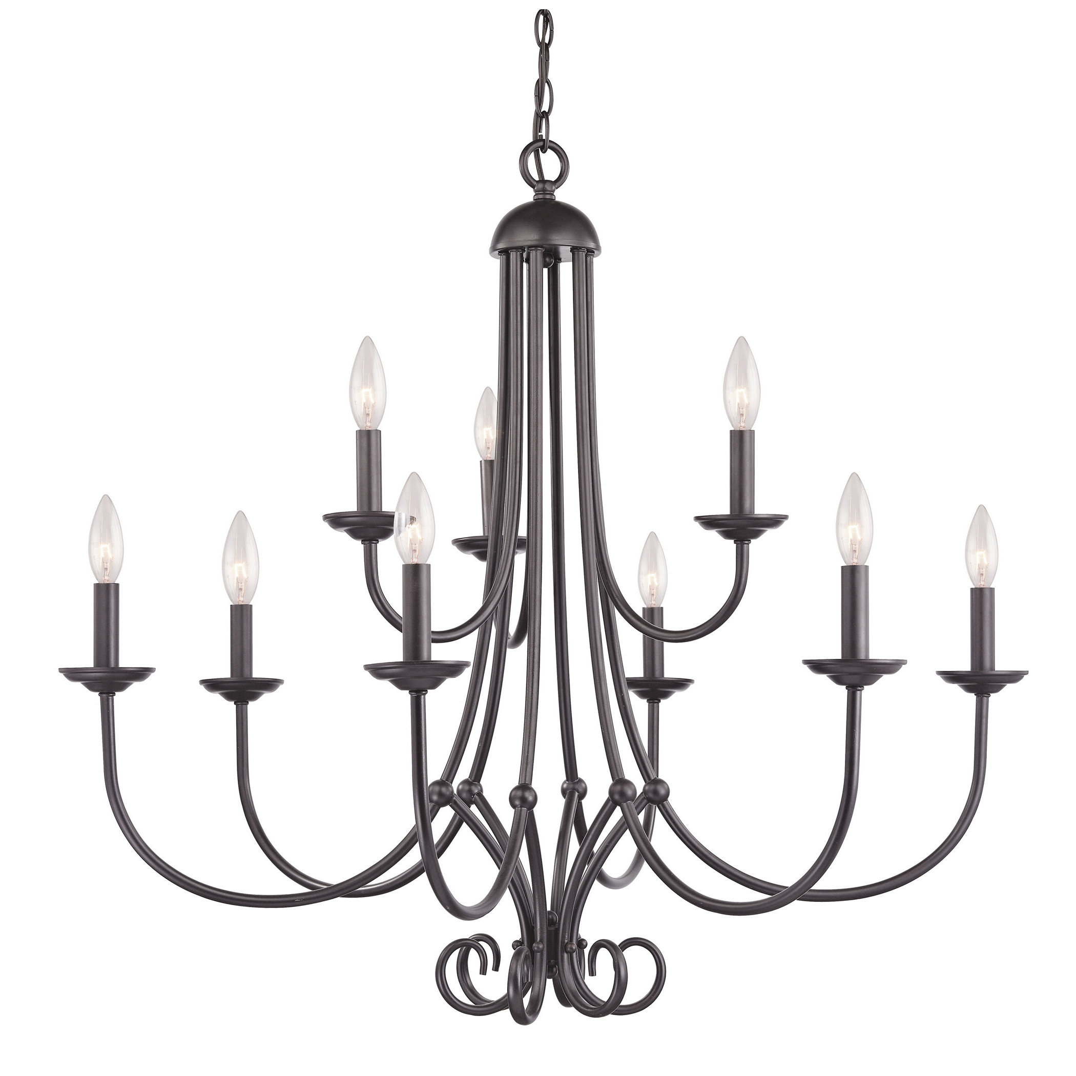 Gaines 9 Light Candle Style Chandeliers Intended For 2019 Holloway 9 Light Chandelier (Gallery 18 of 20)