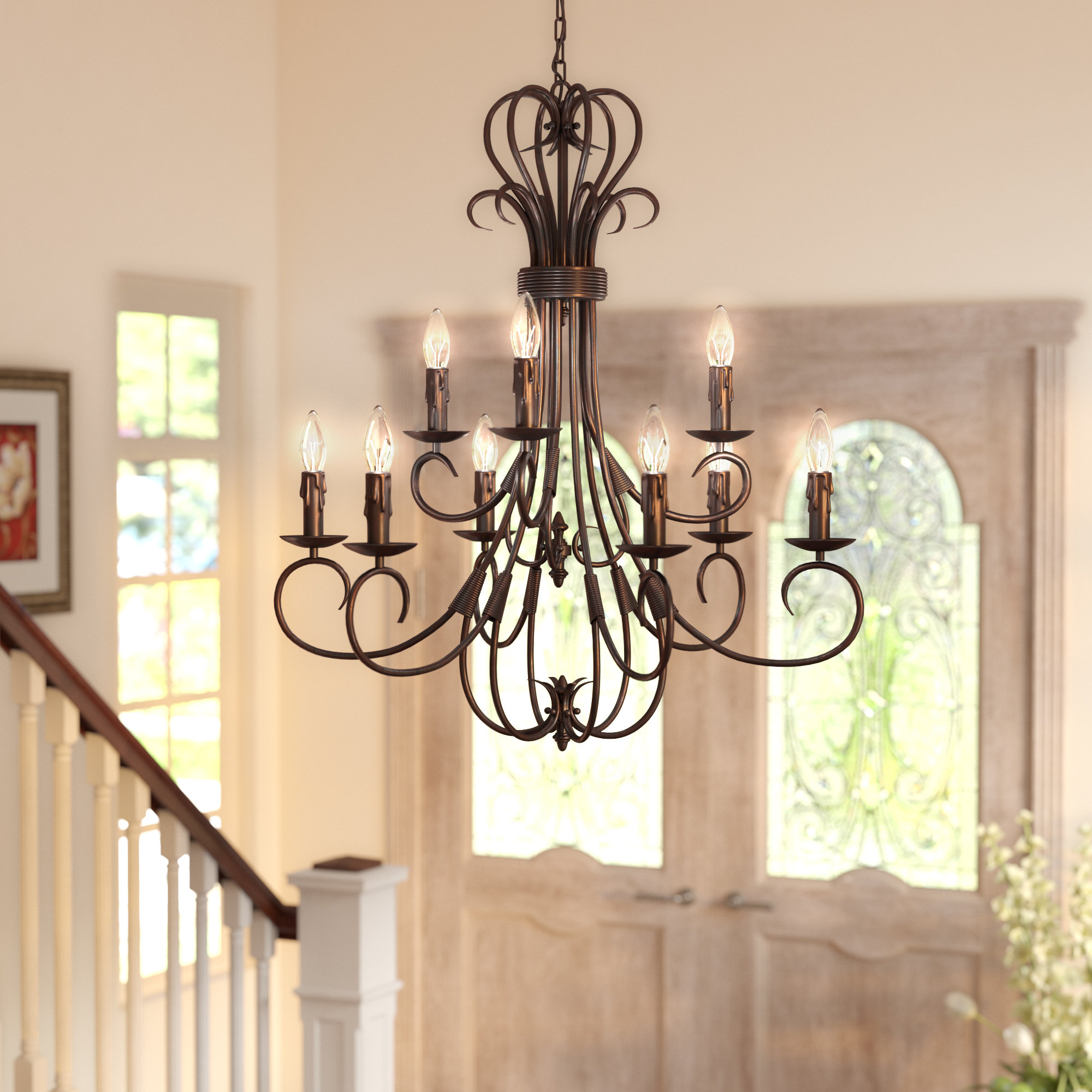 Gaines 9 Light Candle Style Chandeliers Pertaining To Best And Newest Gaines 9 Light Candle Style Chandelier (Gallery 2 of 20)