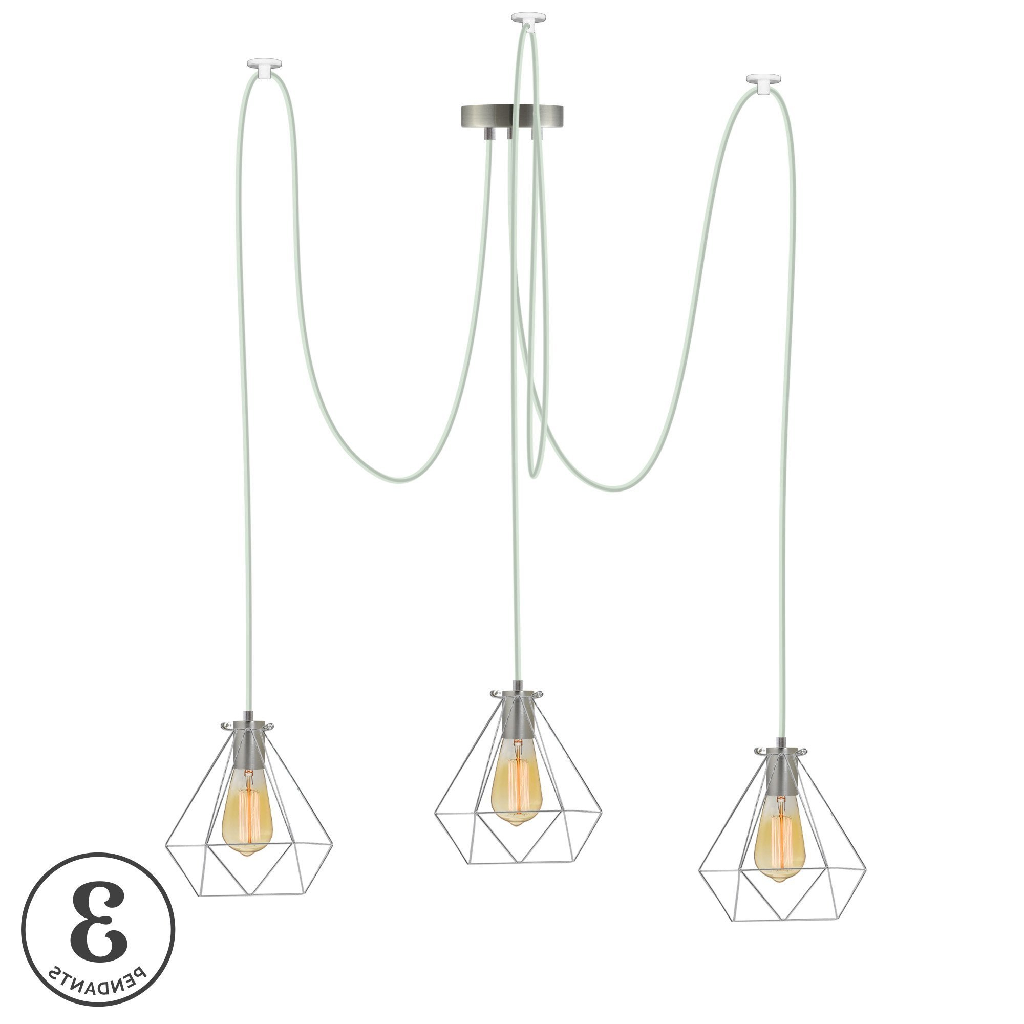 Gattilier 3 Light Cluster Pendants In Well Known Esai 3 Light Cluster Pendant (View 10 of 20)