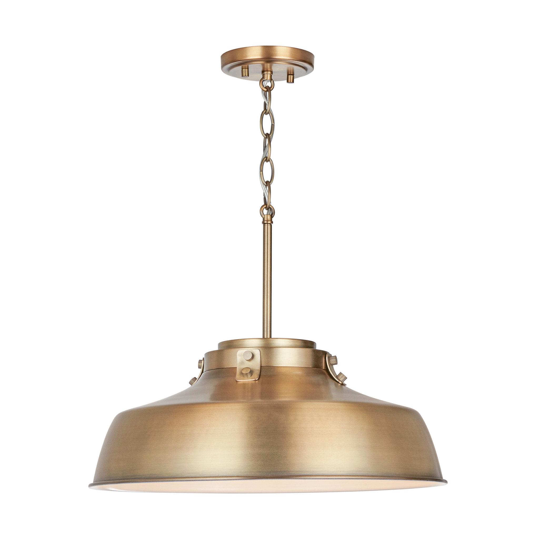 Gattis 1 Light Dome Pendants Throughout Favorite 1 Light Dome Pendant (View 10 of 20)