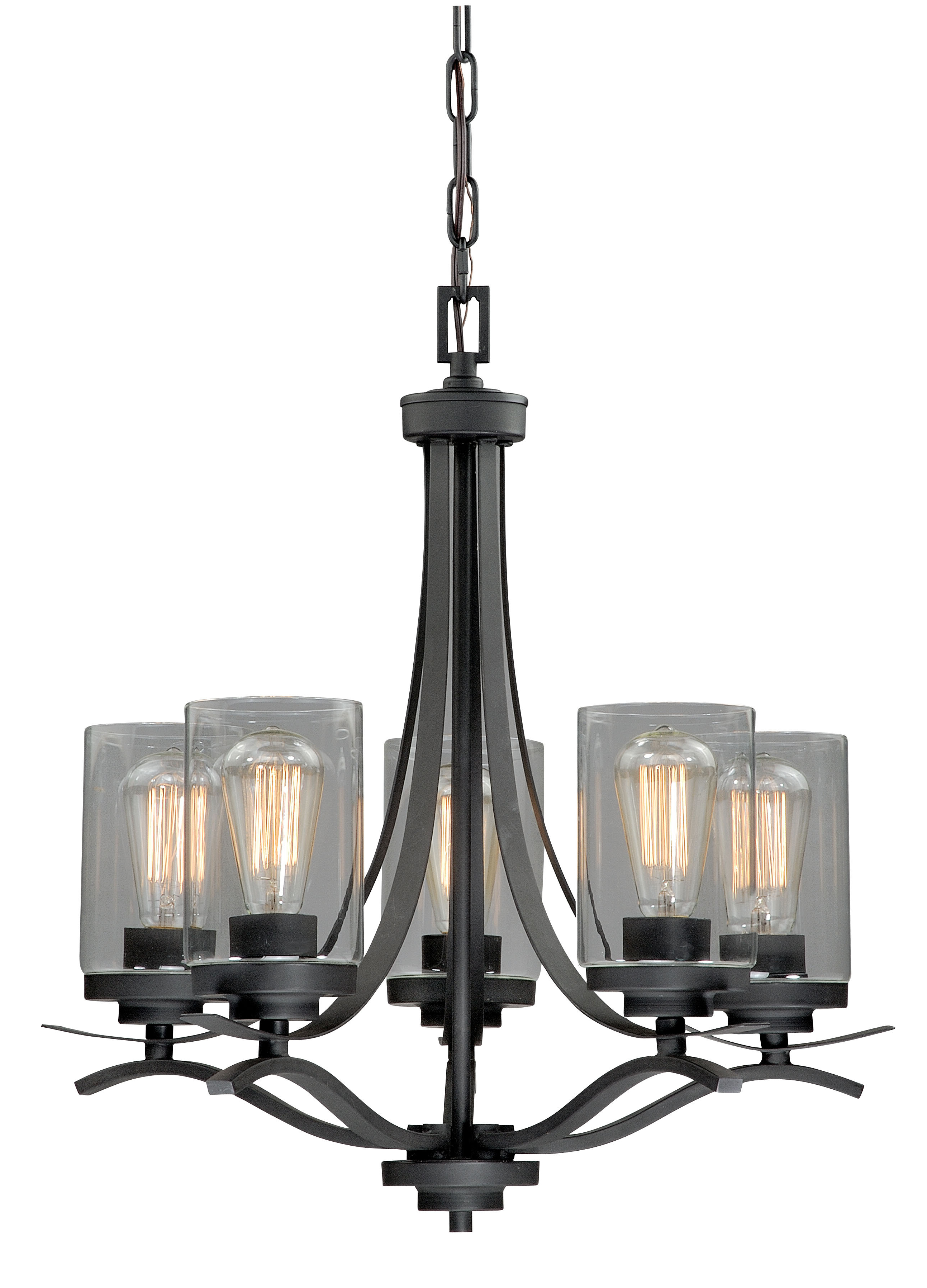 Gaudet 5 Light Shaded Chandelier Throughout Well Known Crofoot 5 Light Shaded Chandeliers (View 10 of 20)
