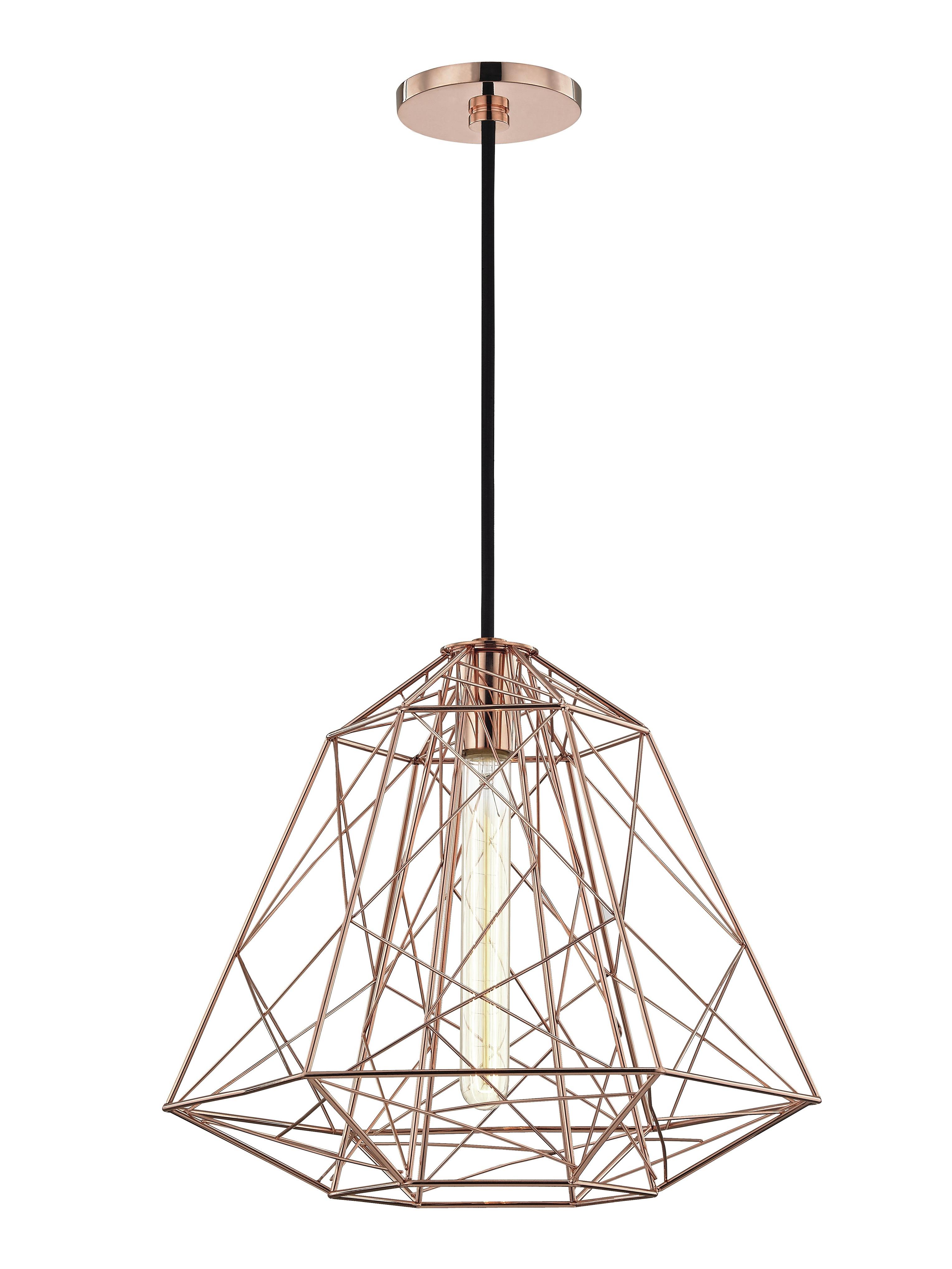 Gaynor 1 Light Pendant Pertaining To Famous Hydetown 1 Light Single Geometric Pendants (View 6 of 20)