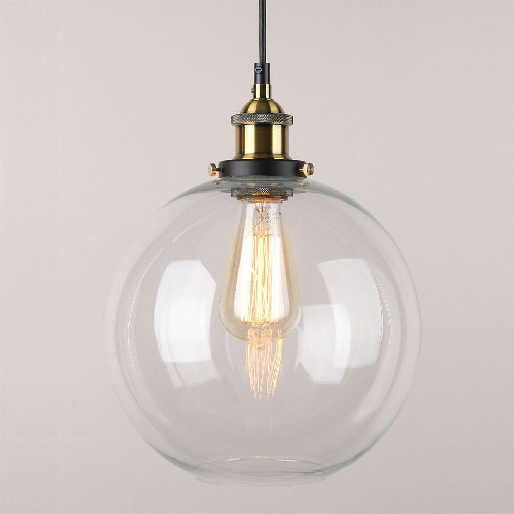 Gehry 1 Light Single Globe Pendants Regarding Preferred Winsoon 9 X 9 Inch Globe Vintage Industrial Ceiling Lamp (View 13 of 20)