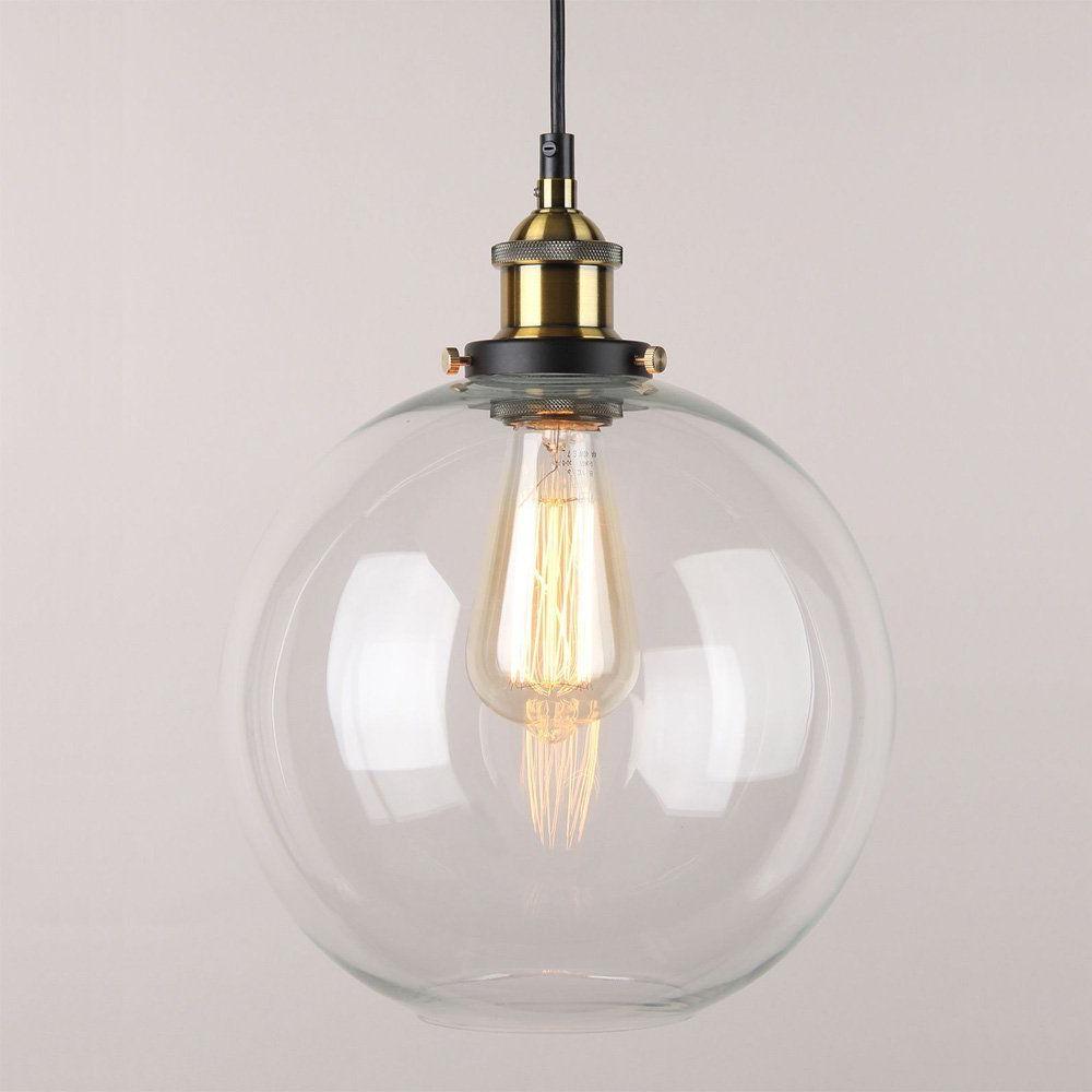 Gehry 1 Light Single Globe Pendants Regarding Preferred Winsoon 9 X 9 Inch Globe Vintage Industrial Ceiling Lamp (View 8 of 20)