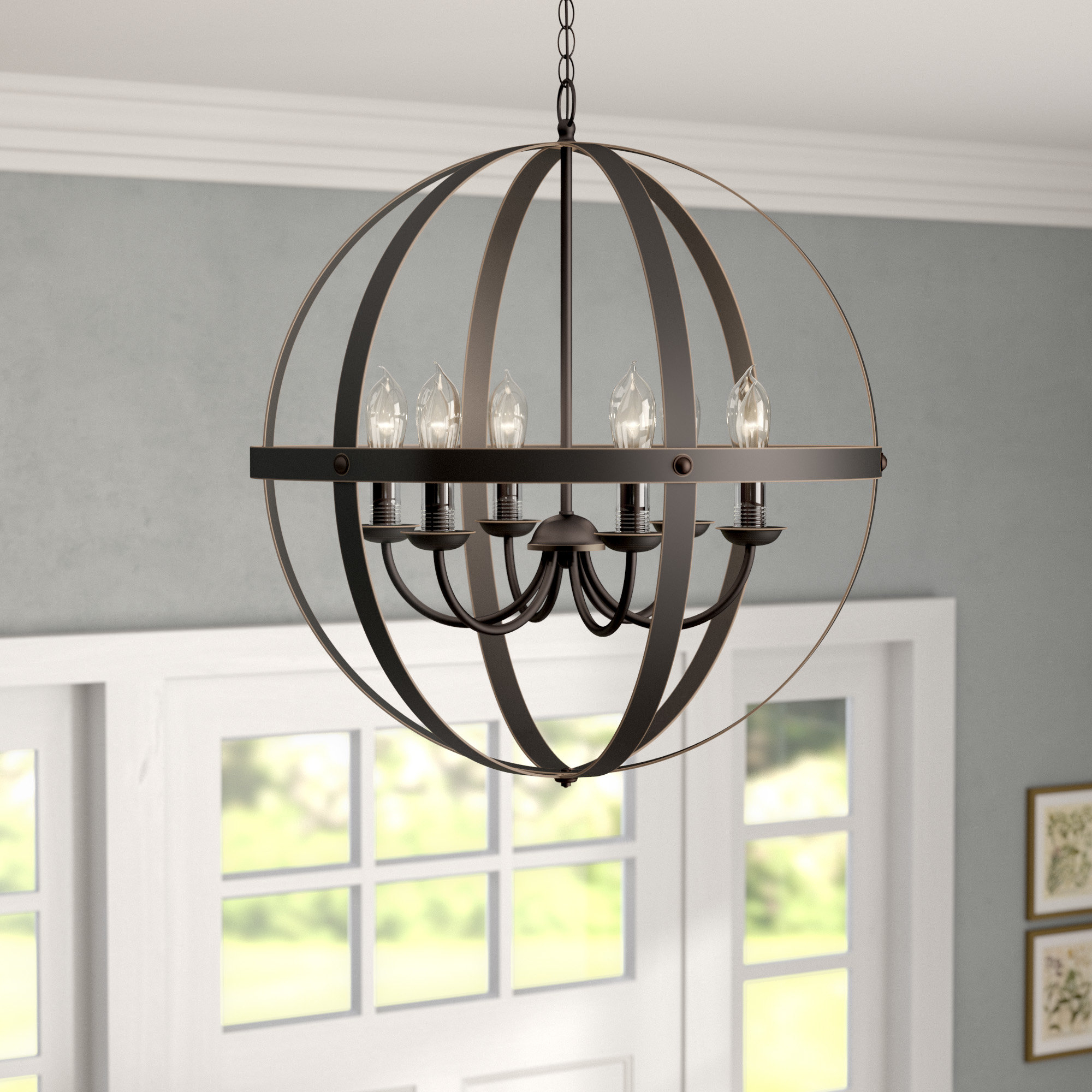 Genna 6 Light Globe Chandelier Intended For Well Known Donna 6 Light Globe Chandeliers (View 8 of 20)