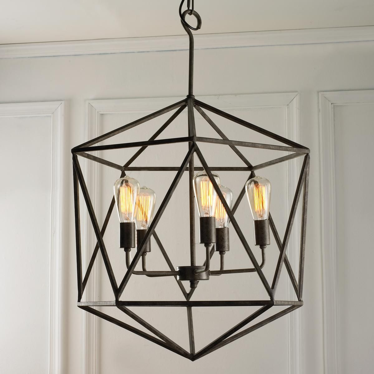Geometric Gem Chandelier – 3 Light (View 4 of 20)
