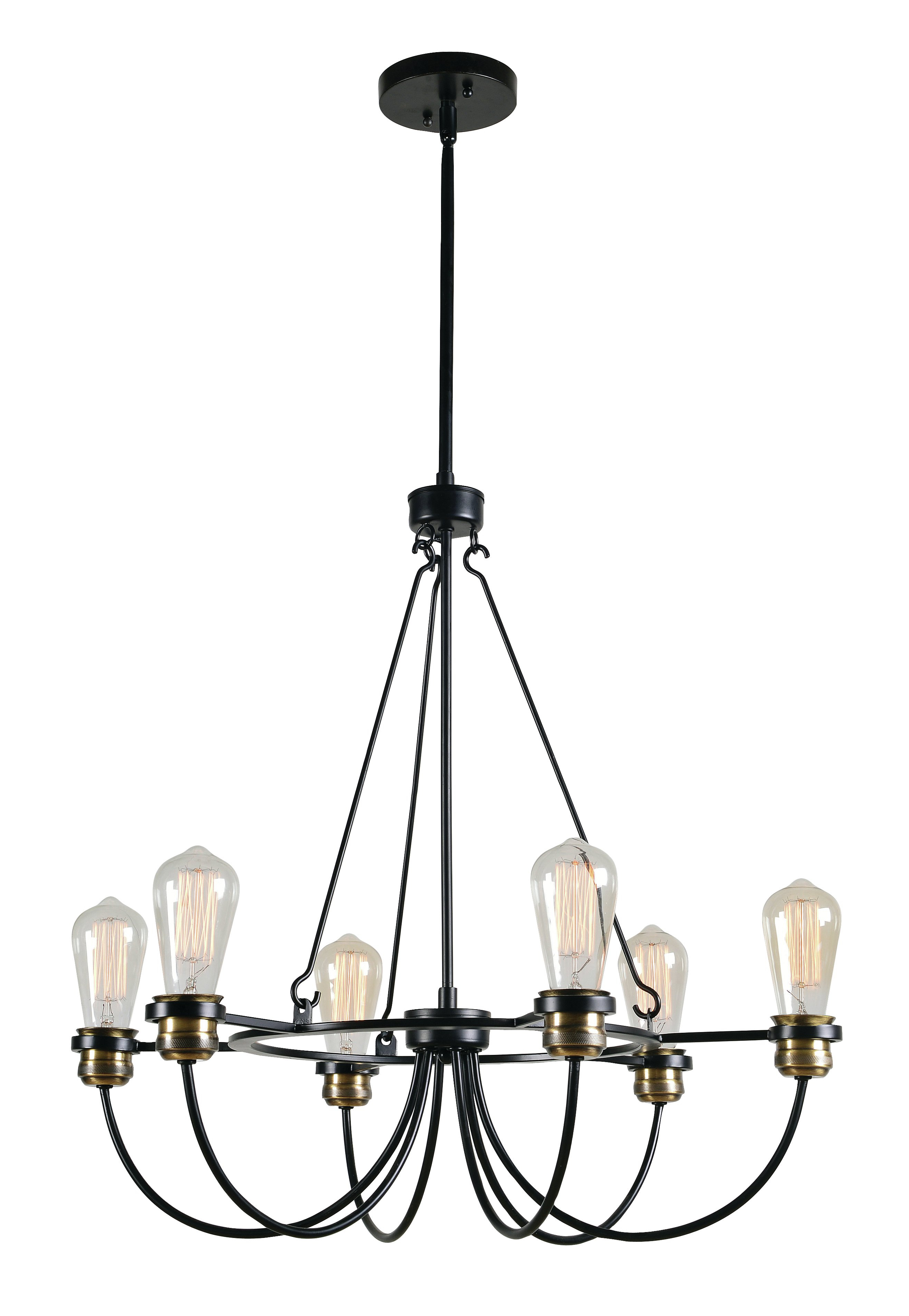 Georgeanna 6 Light Chandelier & Reviews (View 11 of 20)
