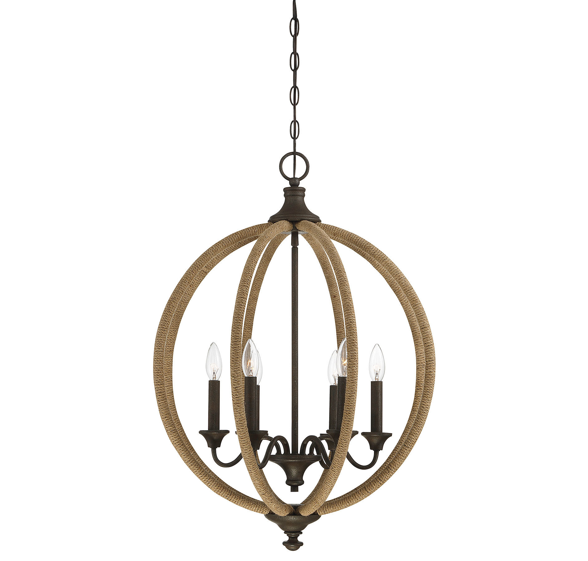 Georgianna 6 Light Globe Chandelier With Regard To Best And Newest Filipe Globe Chandeliers (View 11 of 20)