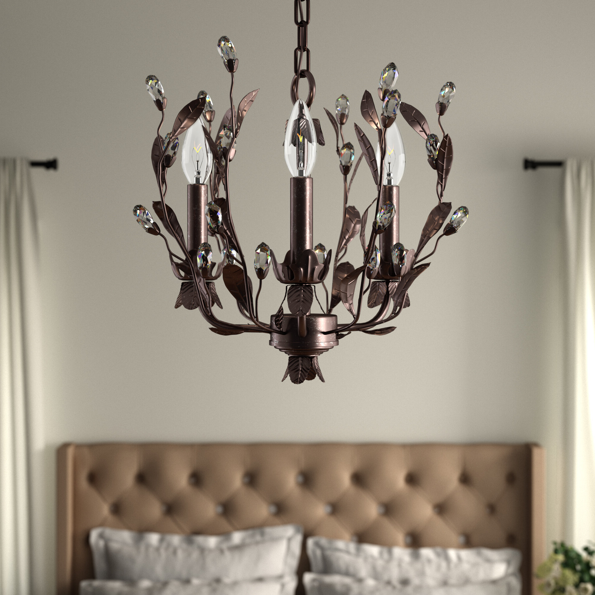 Giovanna 3 Light Candle Style Chandelier Within Preferred Hesse 5 Light Candle Style Chandeliers (View 8 of 20)