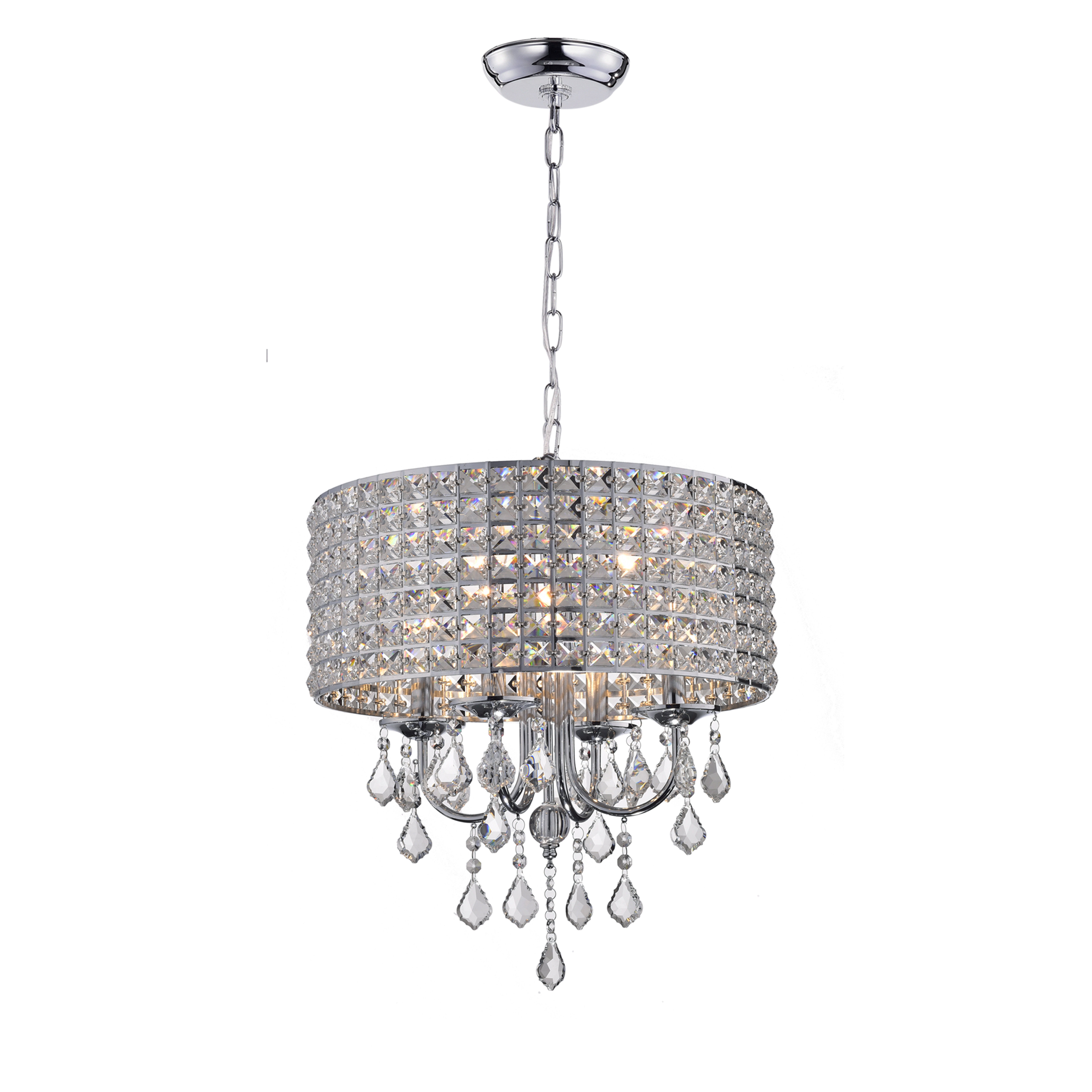 Gisselle 4 Light Drum Chandeliers With Regard To 2020 Albano 4 Light Crystal Chandelier (View 13 of 20)