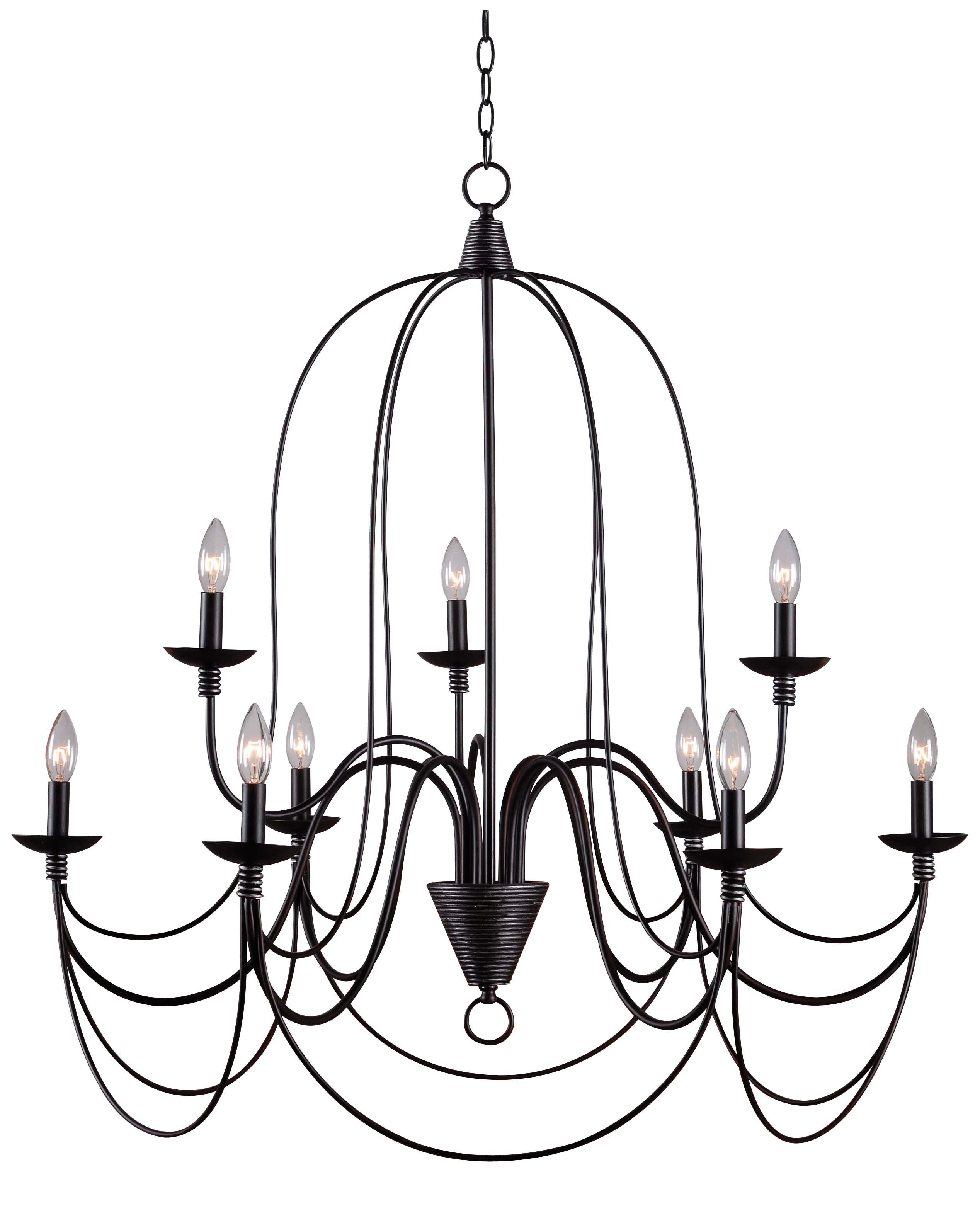 Giverny 9 Light Candle Style Chandeliers With Popular Kollman 9 Light Candle Style Chandelier (View 8 of 20)