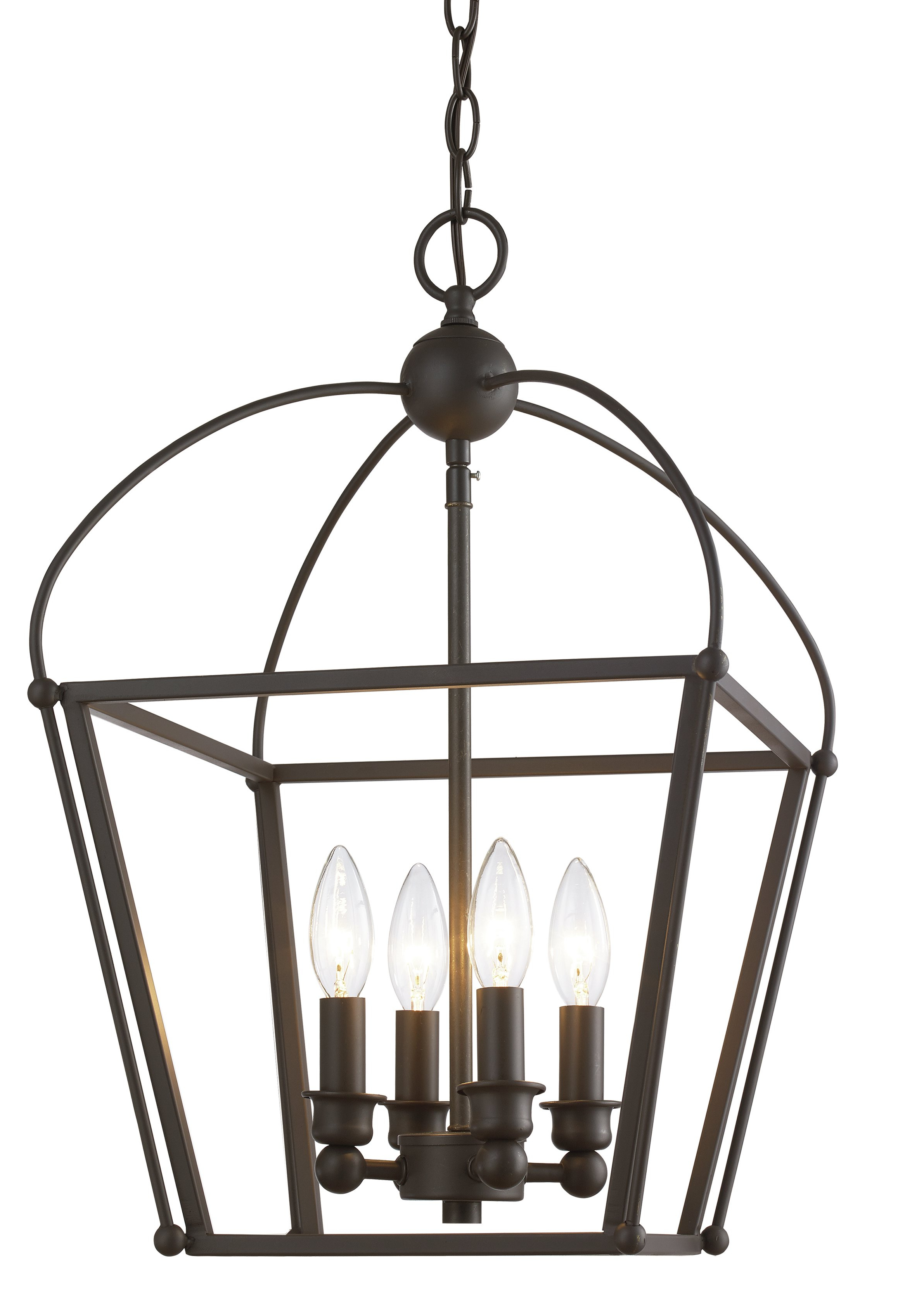 Gladding 4 Light Foyer Lantern Pendant Pertaining To Well Liked Finnick 4 Light Foyer Pendants (View 5 of 20)
