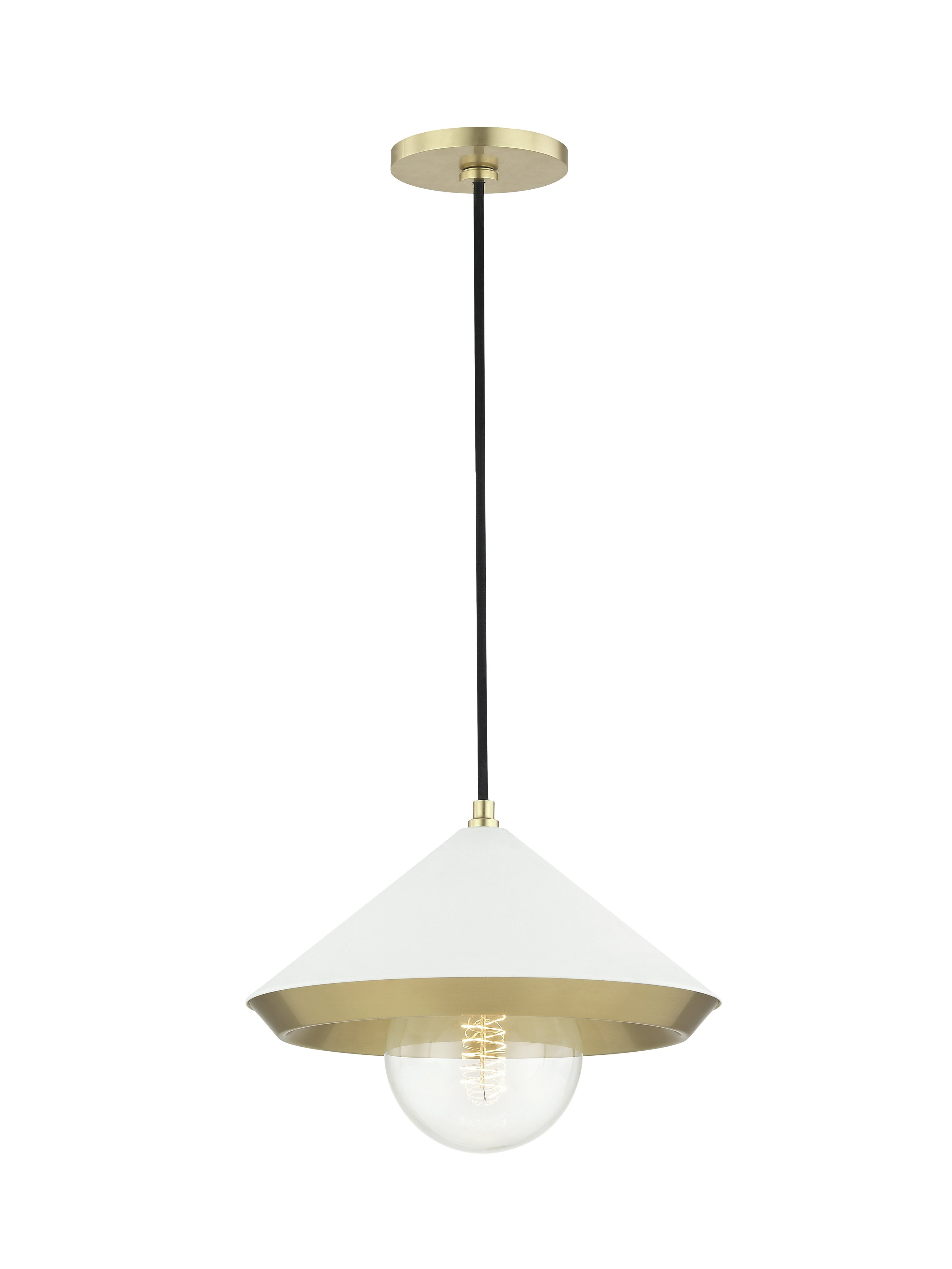 Glendale Heights 1 Light Cone Pendant Pertaining To Preferred Conover 1 Light Dome Pendants (Gallery 16 of 20)