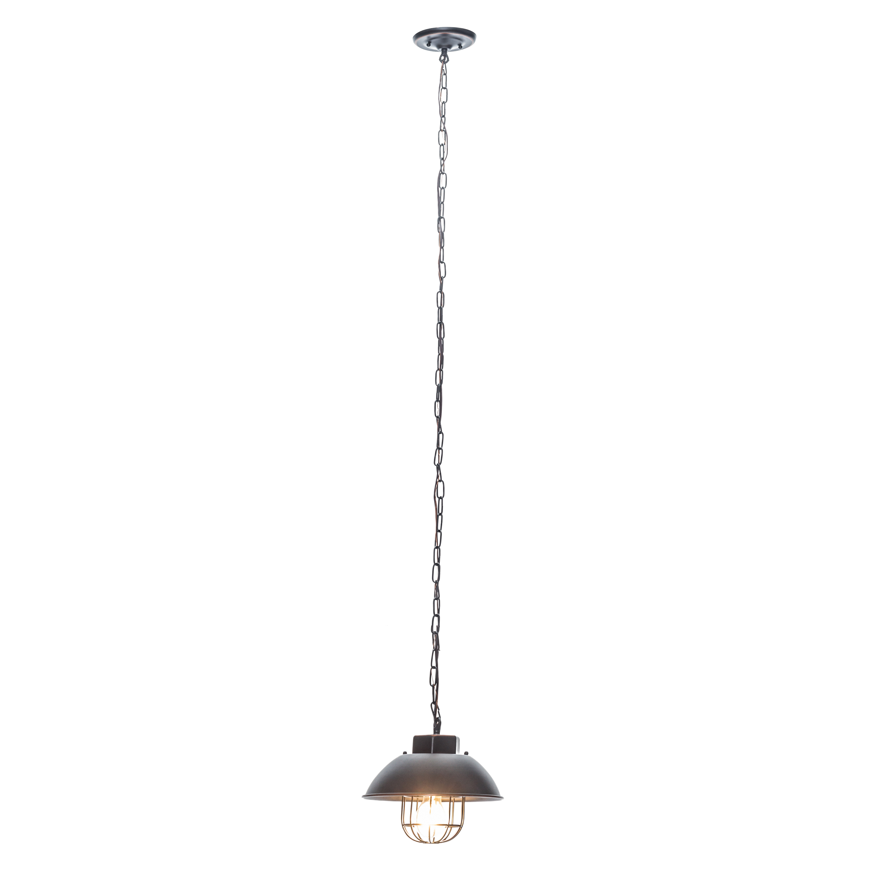 Globe Electric 1 Light Oil Rubbed Bronze Vintage Edison Over Bulb Cage  Pendant, 64834 With Most Recently Released Vintage Edison 1 Light Bowl Pendants (View 4 of 20)