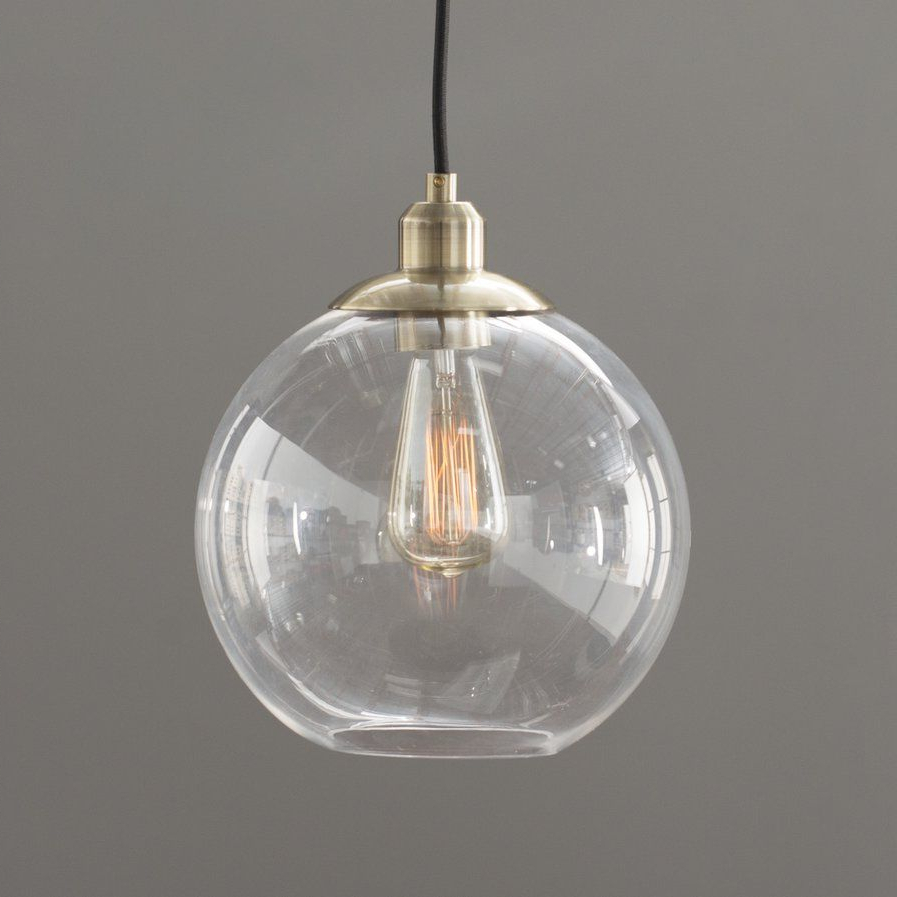 Globe Lights Intended For Widely Used Gehry 1 Light Single Globe Pendants (View 9 of 20)