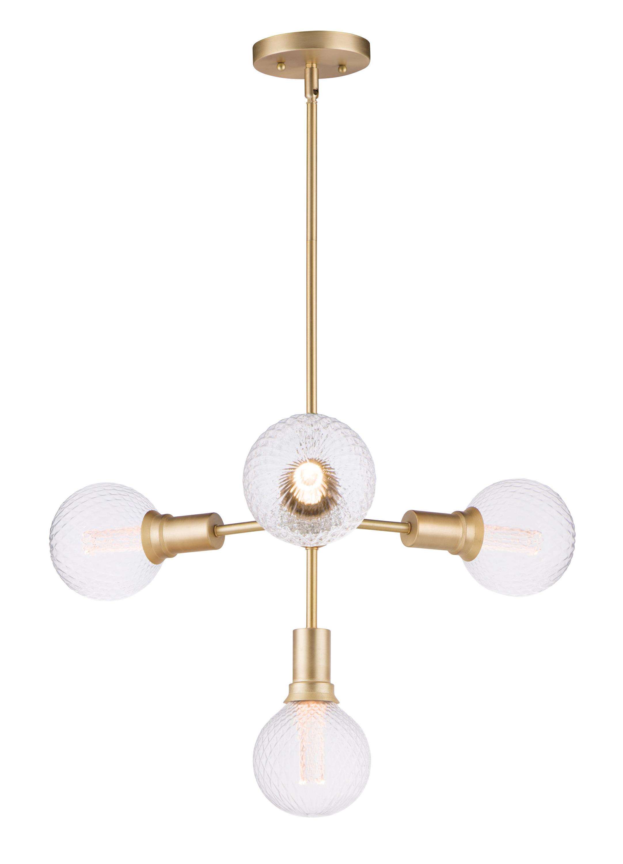 Godbey 4 Light Sputnik Chandelier Pertaining To Trendy Bautista 6 Light Sputnik Chandeliers (View 12 of 20)