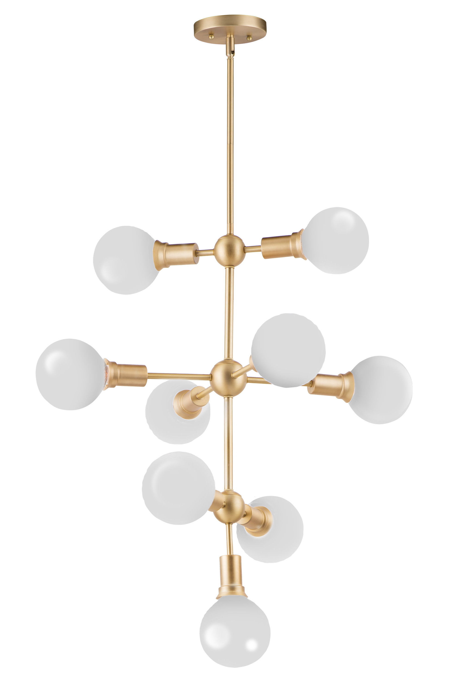 Godbey 9 Light Sputnik Chandelier With Popular Bautista 6 Light Sputnik Chandeliers (View 13 of 20)
