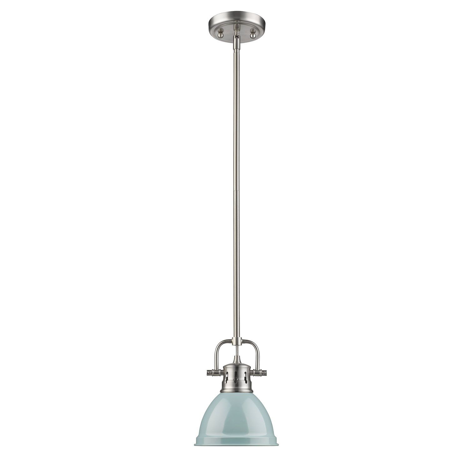Golden Lighting Duncan Pewter One Light Mini Pendant With For Well Known Ninette 1 Light Dome Pendants (Gallery 18 of 20)