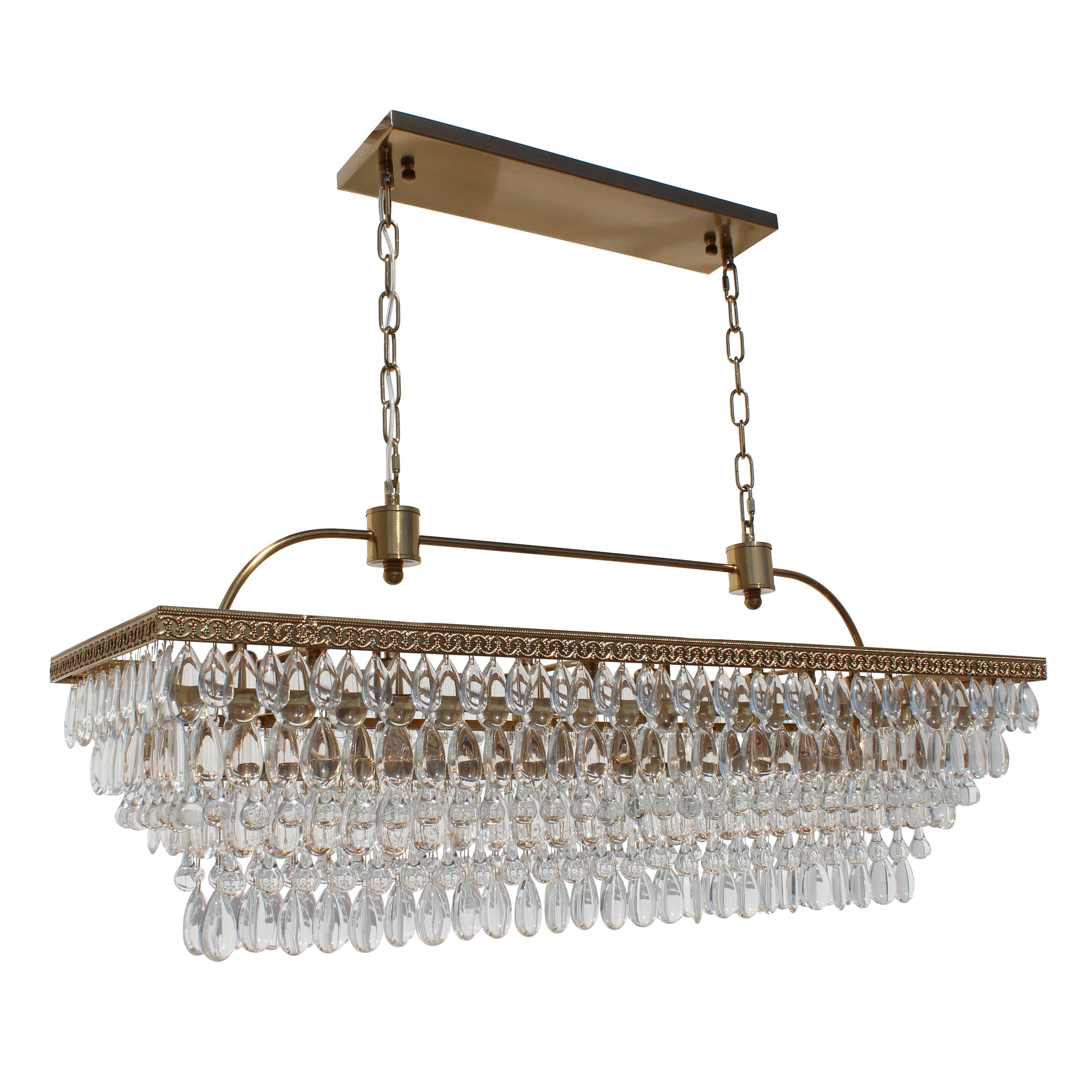 Gracelyn 8 Light Kitchen Island Pendants In Well Known Dix 6 Light Crystal Chandelier (View 9 of 20)
