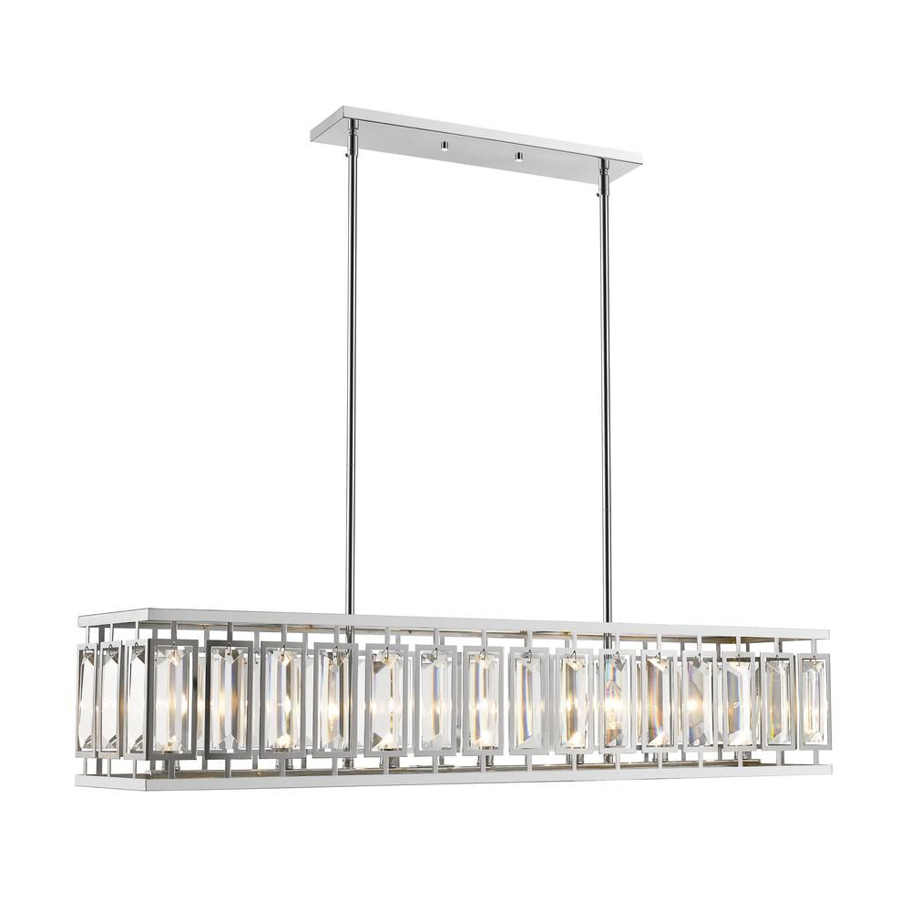 Gracelyn 8 Light Kitchen Island Pendants Throughout Newest Filament Design Monarch 7 Light Chrome Pendant With Chrome (View 10 of 20)