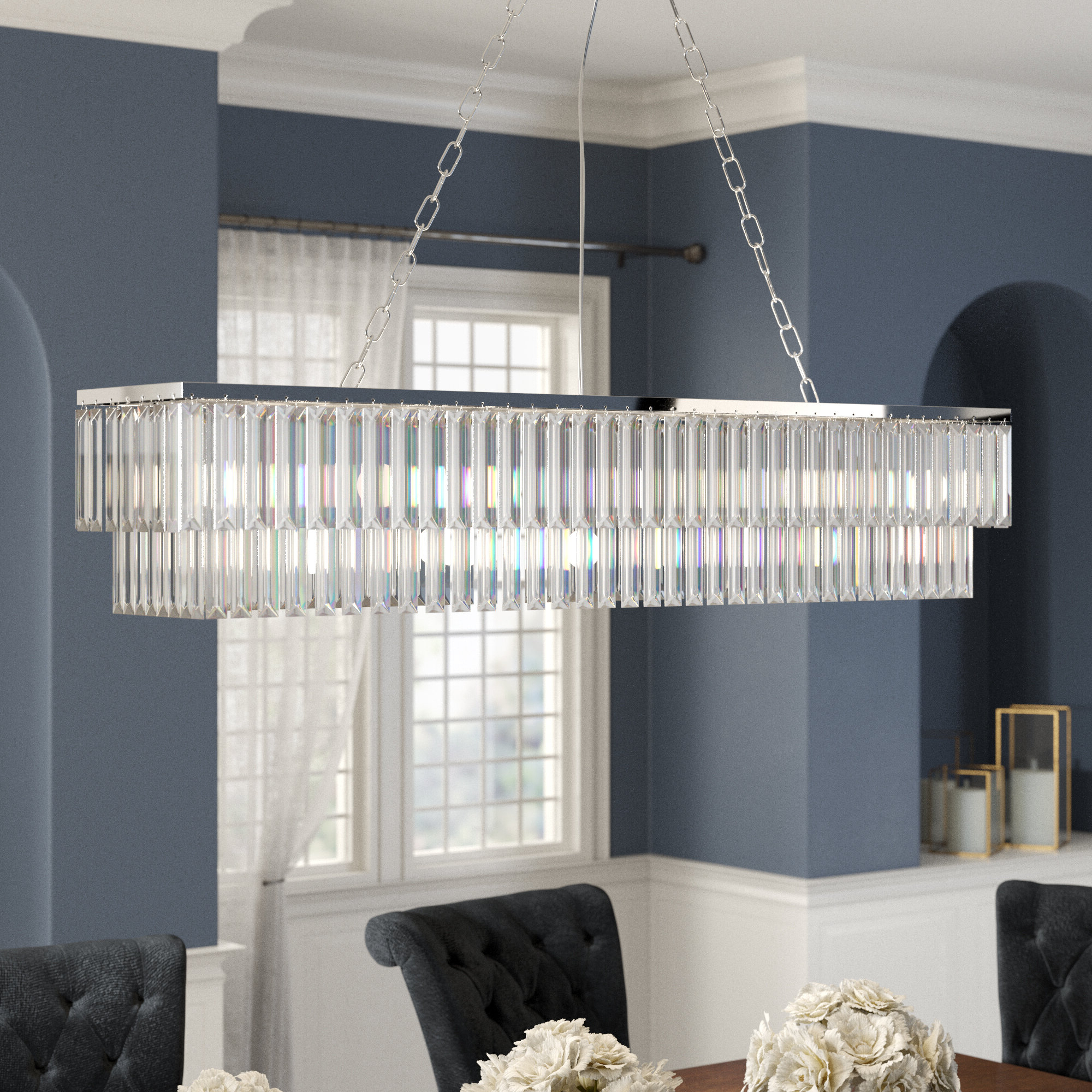 Gracelyn 8 Light Kitchen Island Pendants With Widely Used Allen 8 Light Kitchen Island Rectangle Pendant (View 11 of 20)
