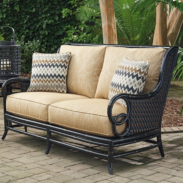 Great Price Carlisle Patio Sofa With Cushionsforever Within Preferred Calila Teak Loveseats With Cushion (View 13 of 20)