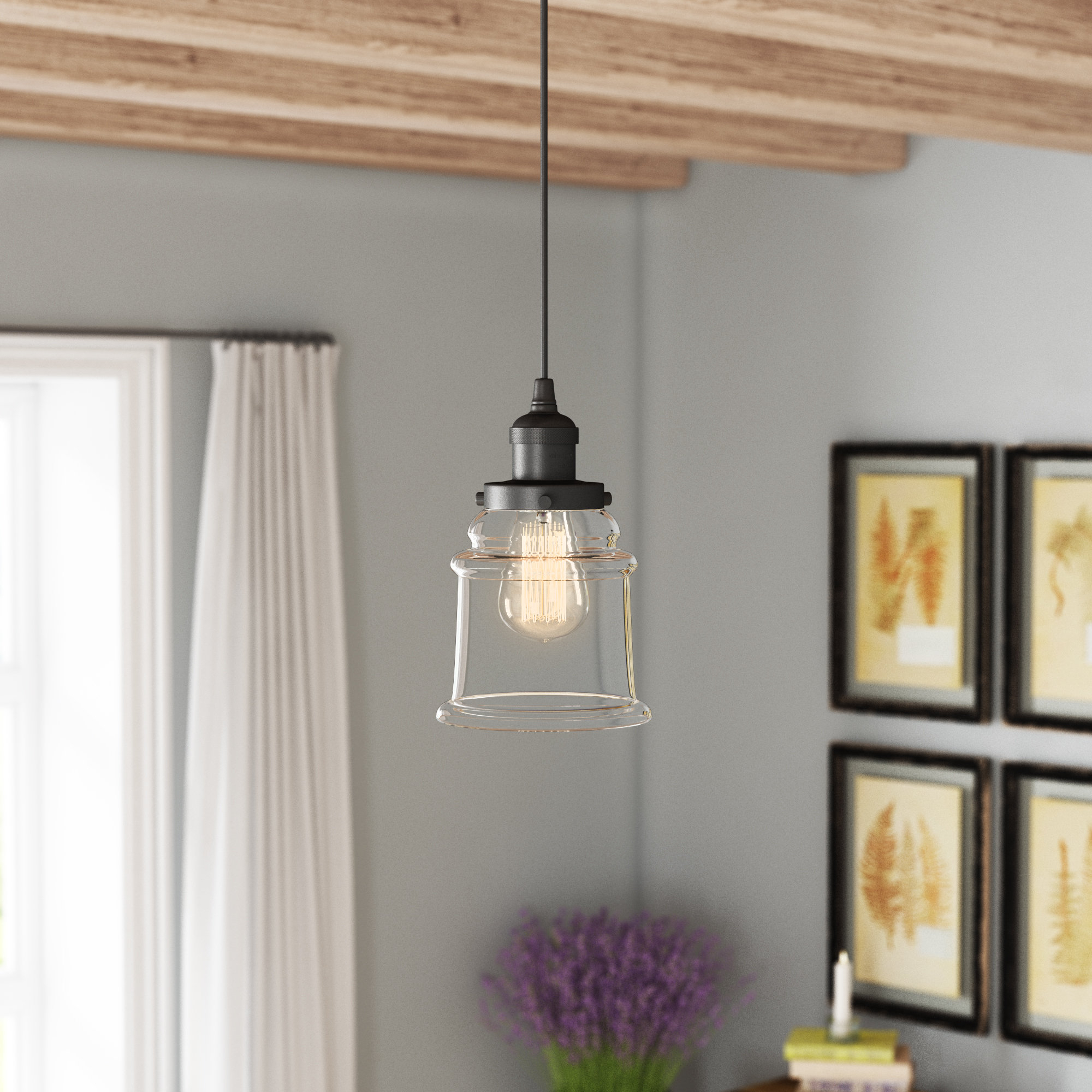 Greeley 1 Light Single Bell Pendant Pertaining To 2019 Sue 1 Light Single Jar Pendants (View 6 of 20)