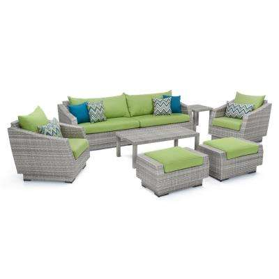 Green – Sofa – Patio Conversation Sets – Outdoor Lounge With Regard To Trendy Greta Living Patio Sectionals With Cushions (View 4 of 20)