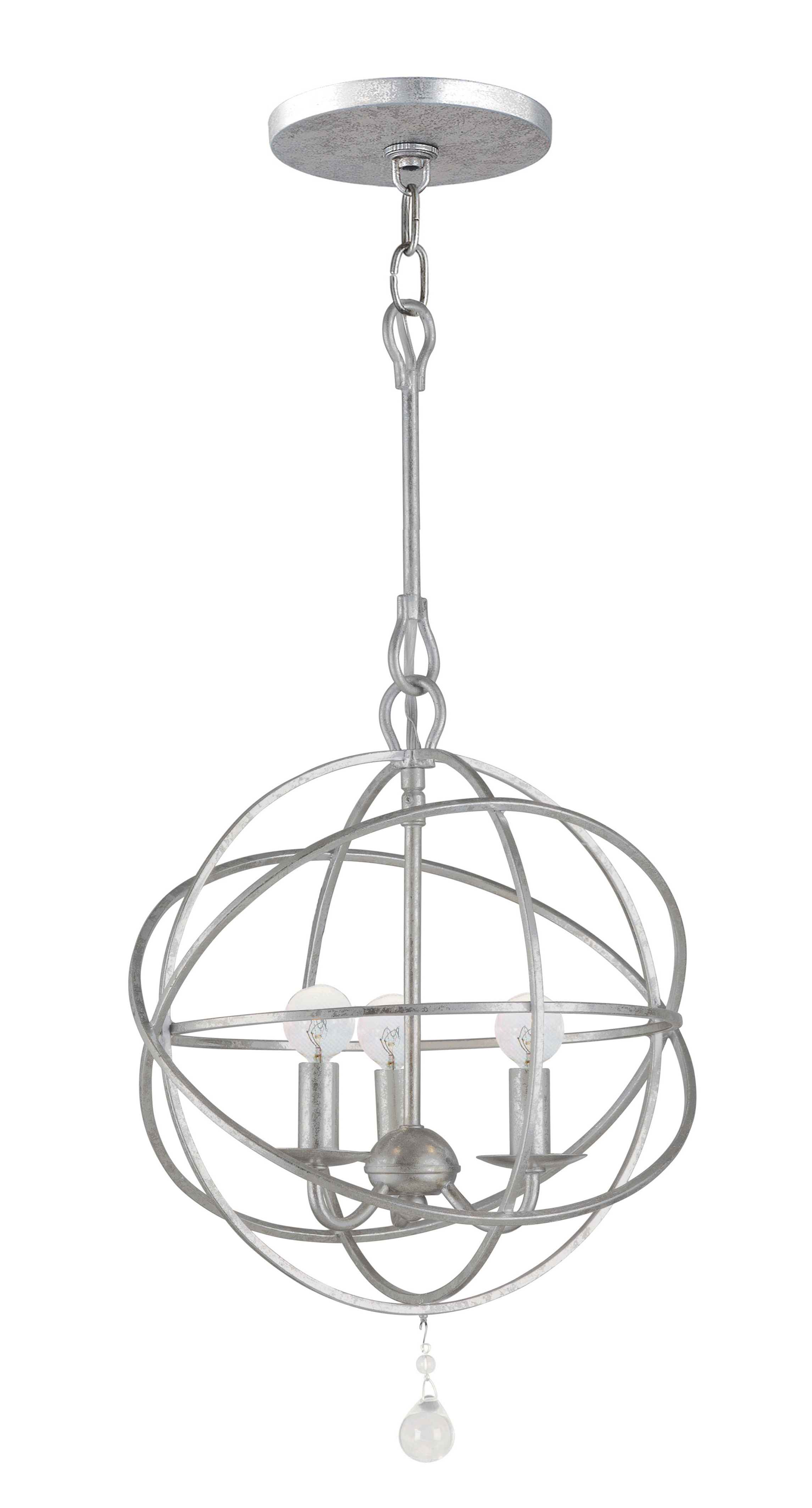 Gregoire 3 Light Globe Chandelier Within 2020 Alden 3 Light Single Globe Pendants (View 13 of 20)