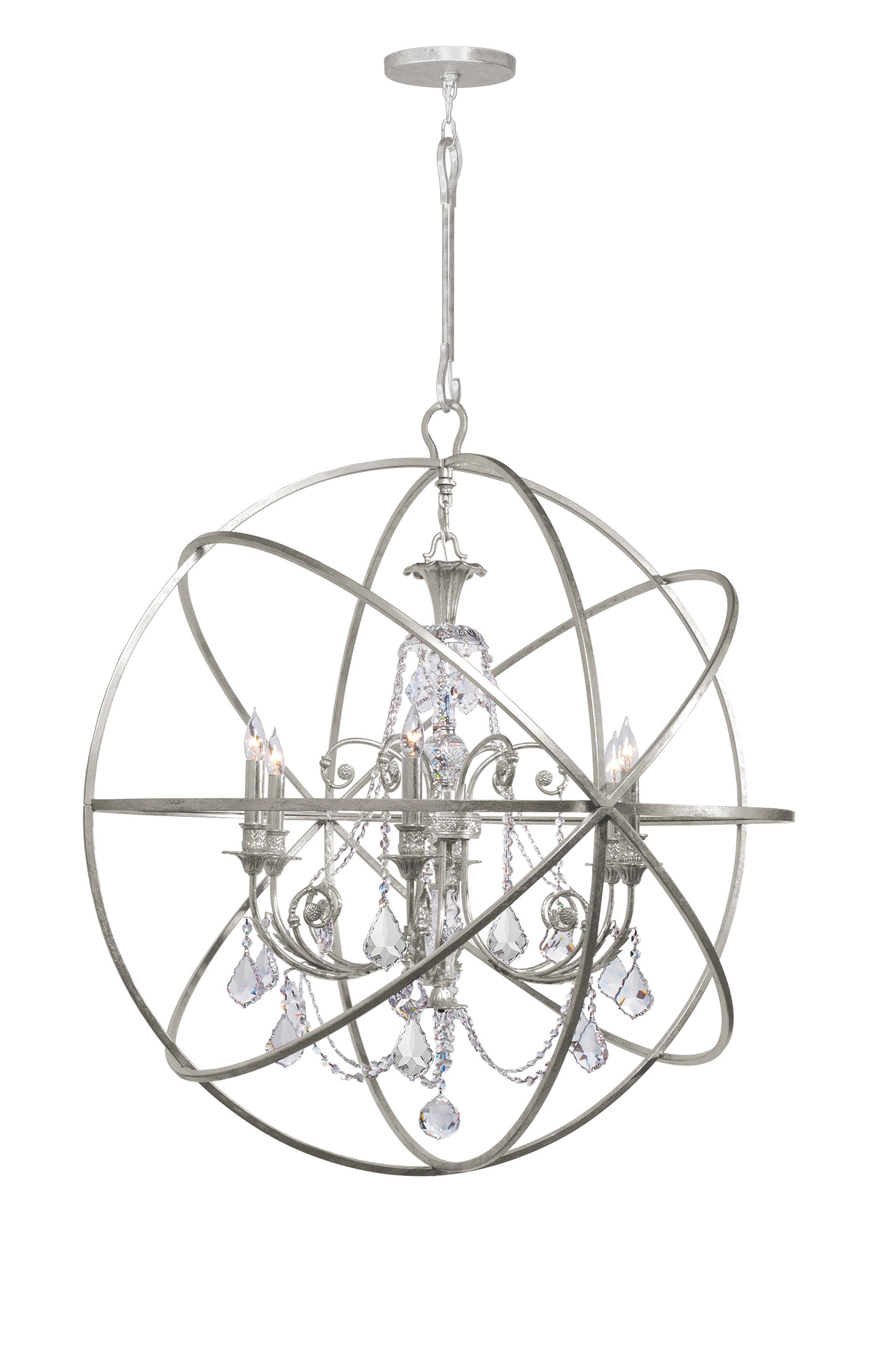 Gregoire 6 Light Globe Chandelier For Current Gregoire 6 Light Globe Chandeliers (Gallery 4 of 20)