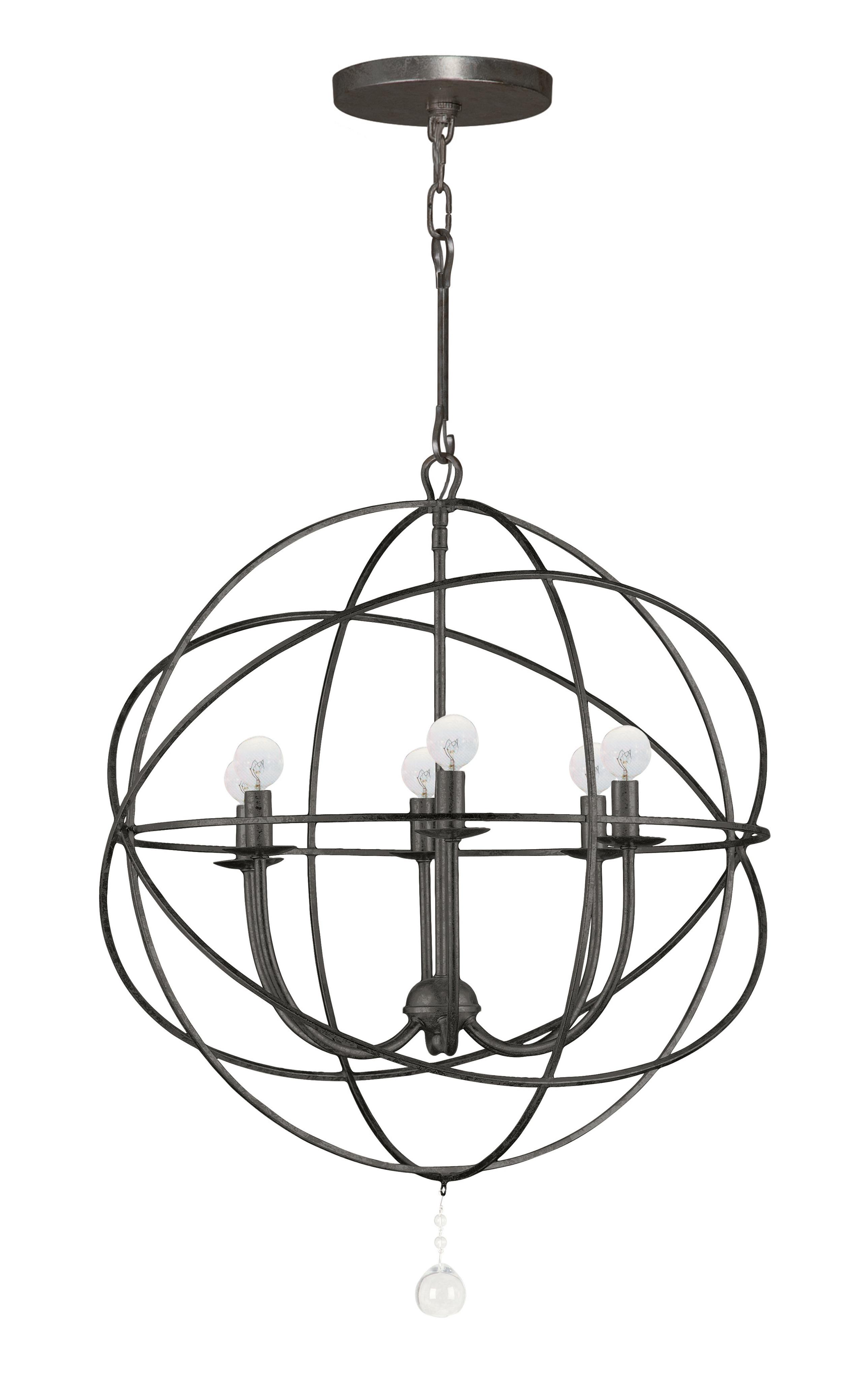 Gregoire 6 Light Globe Chandelier Pertaining To Newest Gregoire 6 Light Globe Chandeliers (Gallery 3 of 20)