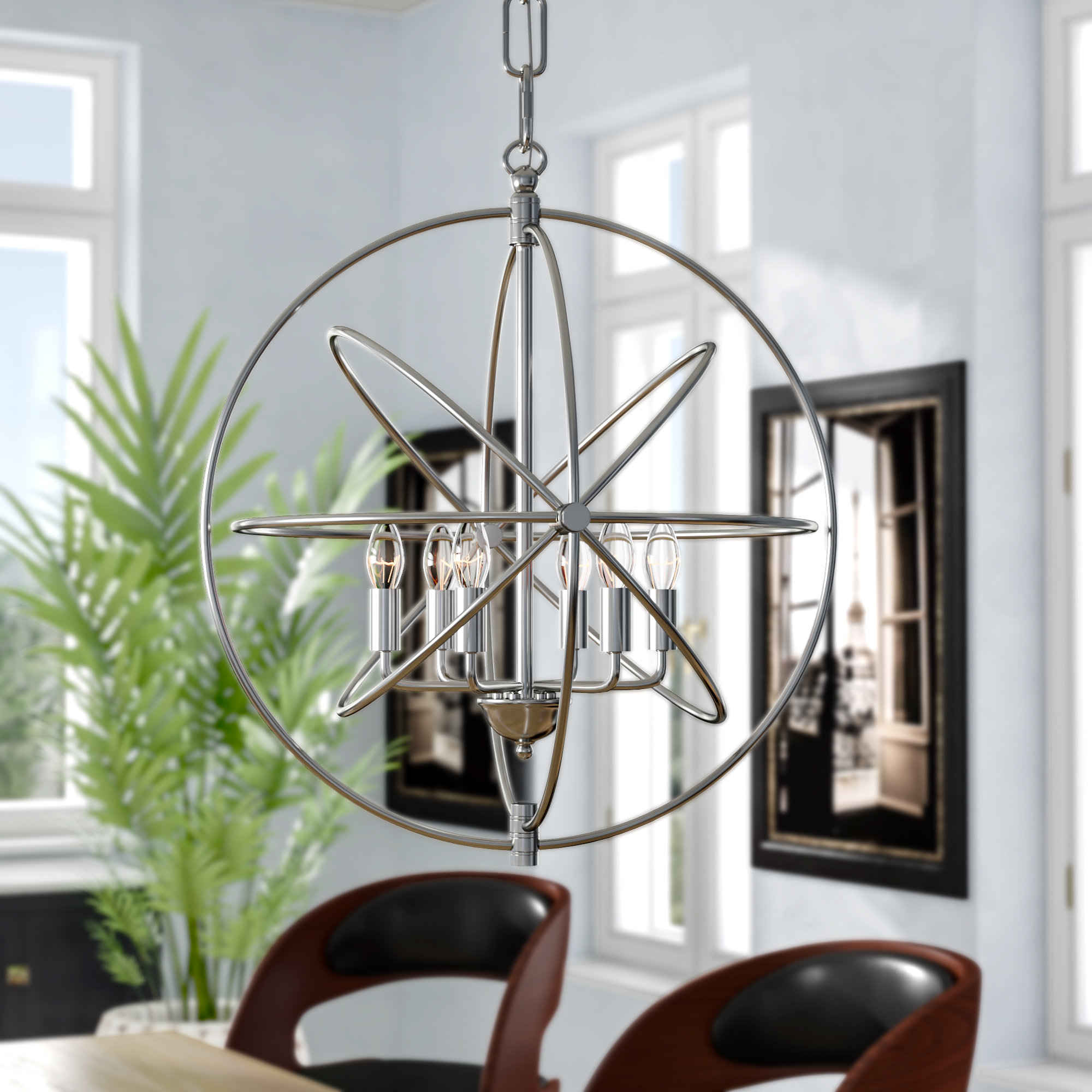 Gregoire 6 Light Globe Chandeliers Inside Newest Hamby 6 Light Globe Chandelier (Gallery 12 of 20)