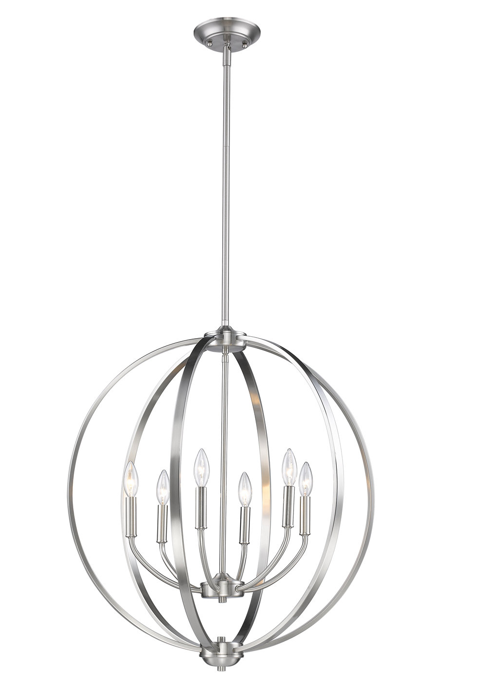 Gregoire 6 Light Globe Chandeliers Regarding Well Known Earlene 6 Light Globe Chandelier (View 9 of 20)