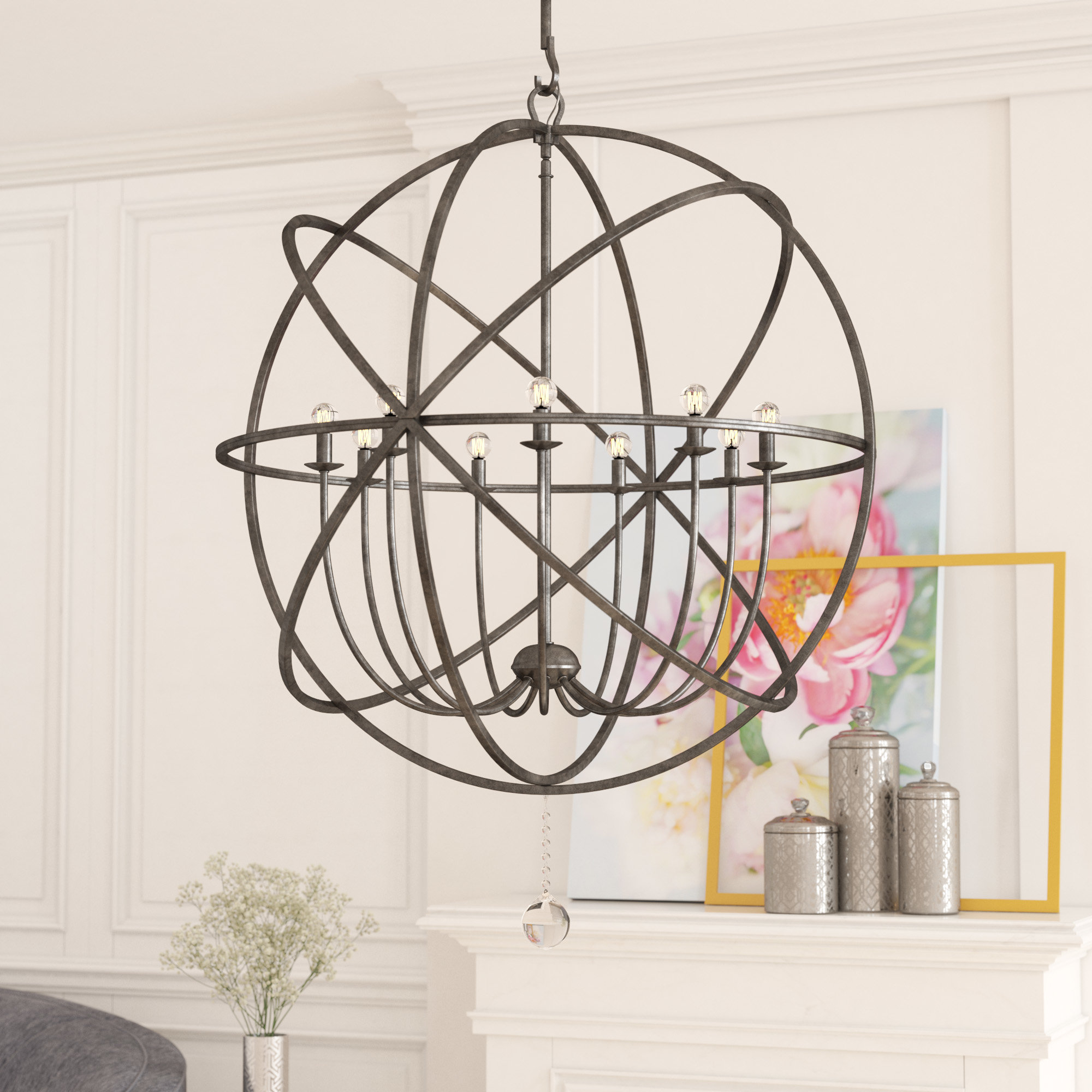 Gregoire 6 Light Globe Chandeliers With Newest Gregoire 9 Light Globe Chandelier (Gallery 7 of 20)